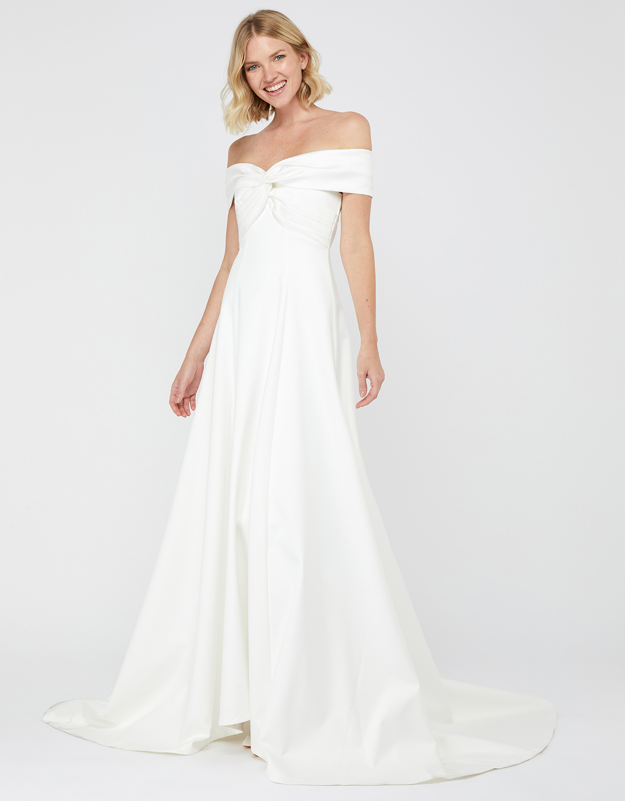 Monsoon HANNAH BRIDAL BARDOT SATIN MAXI DRESS