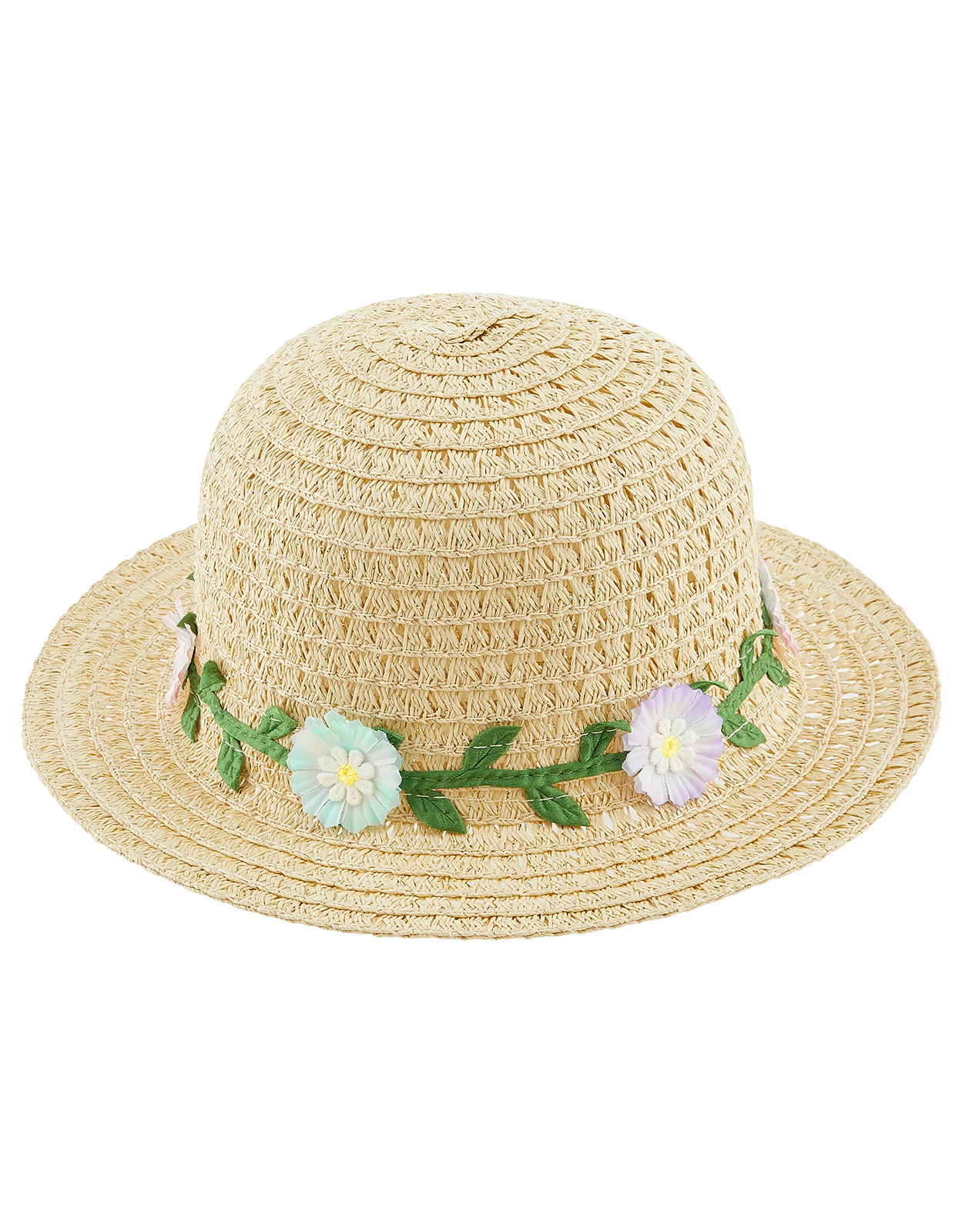 Monsoon Baby Flower Trim Floppy Hat