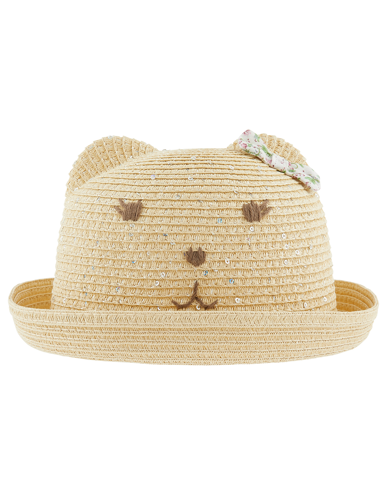 Monsoon Baby Bear Sequin Bowler Hat