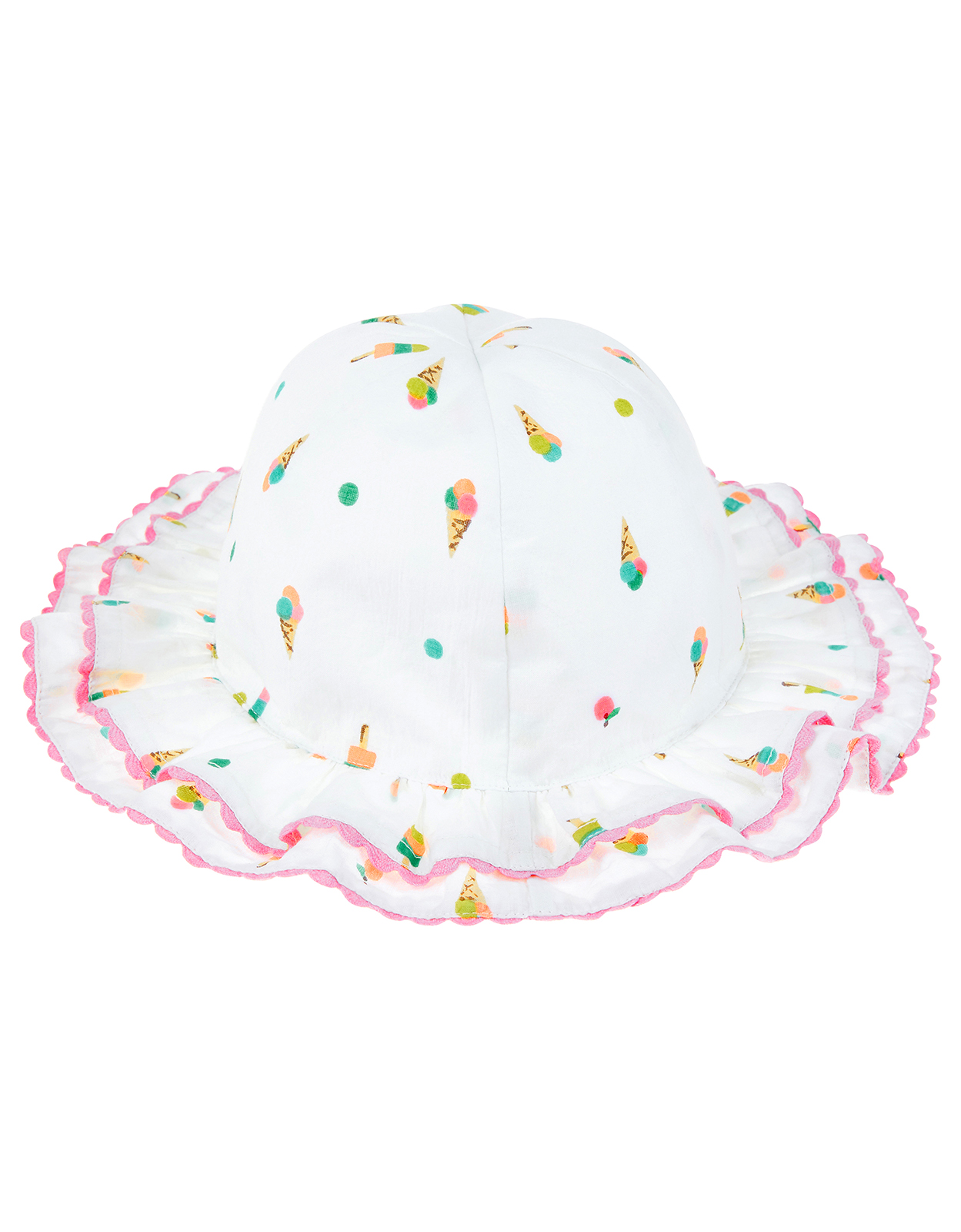 Monsoon Double Frill Ice Cream Print Hat