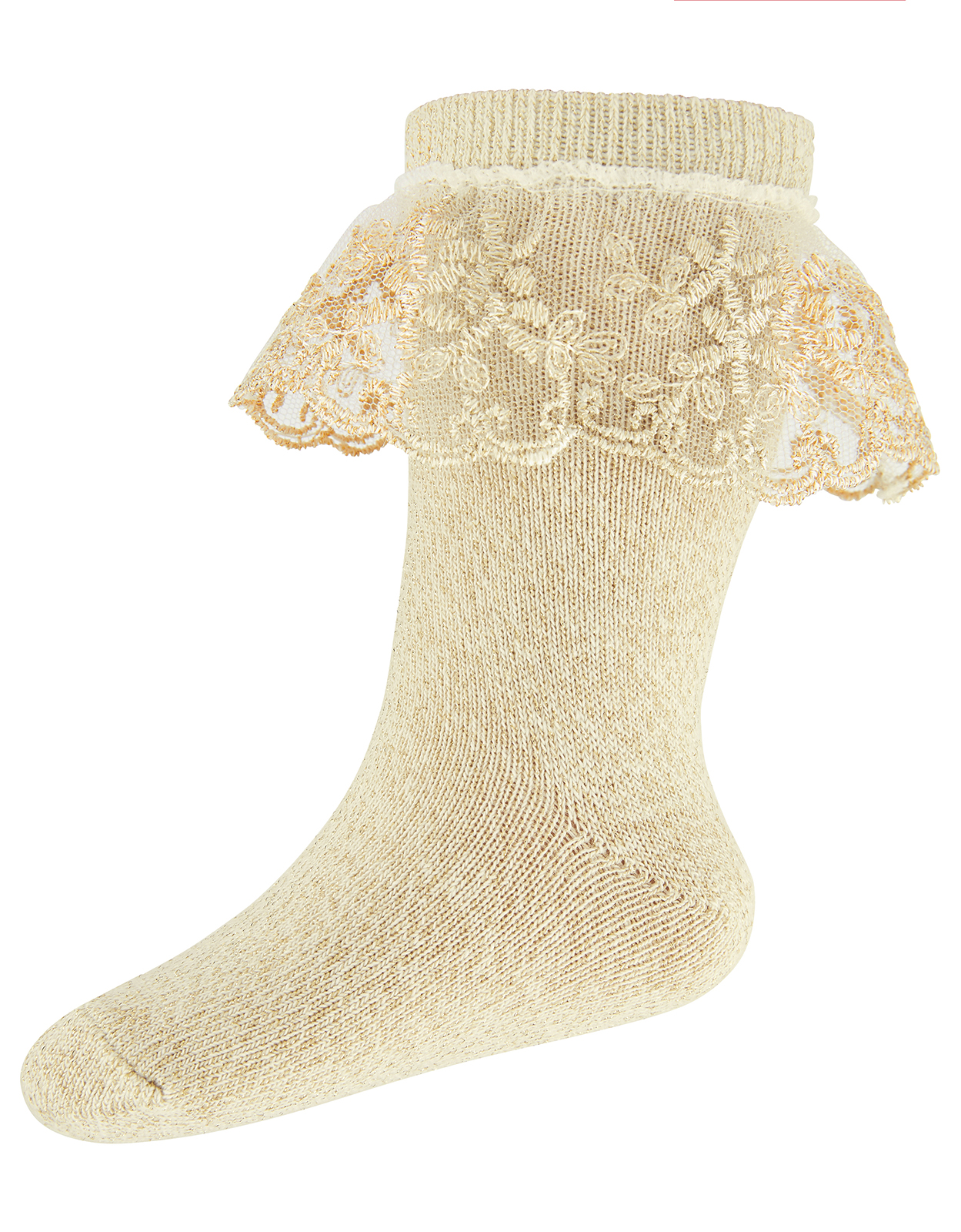 Monsoon Baby Flower Scallop Lace Ankle Socks