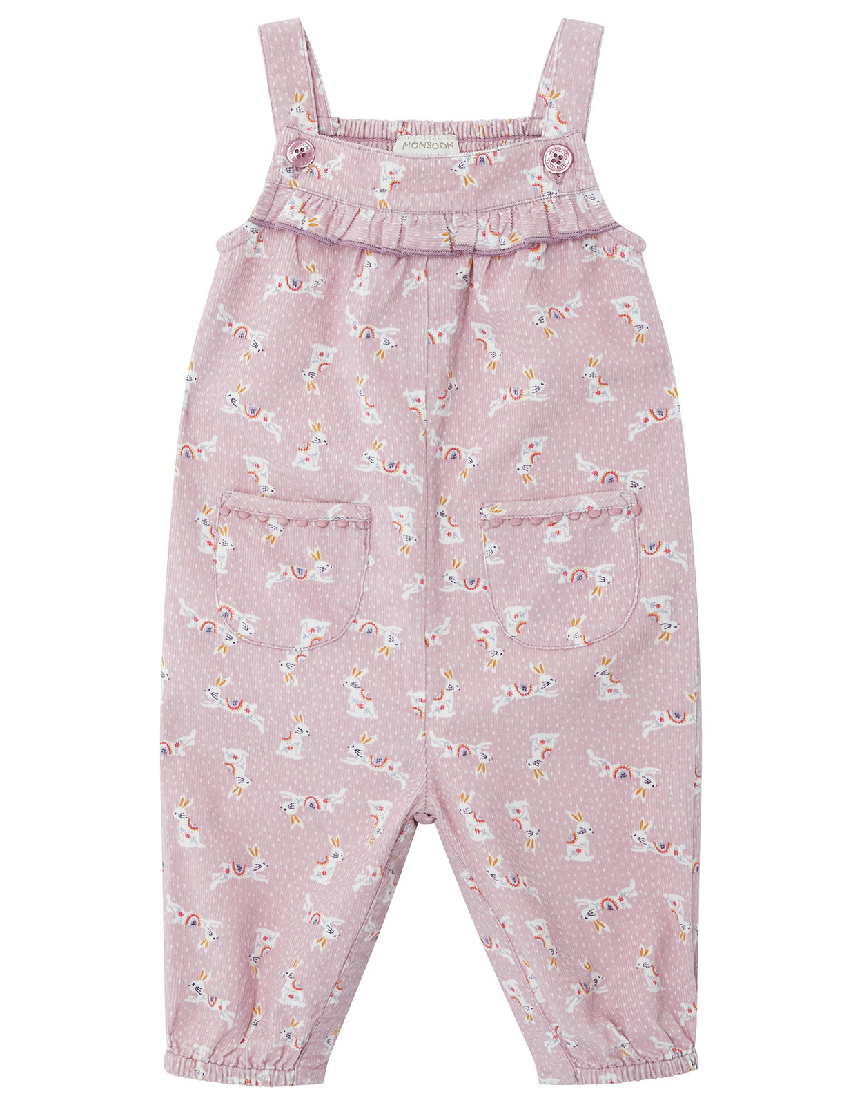 Monsoon Newborn Baby Lorrie Bunny Cord Playsuit