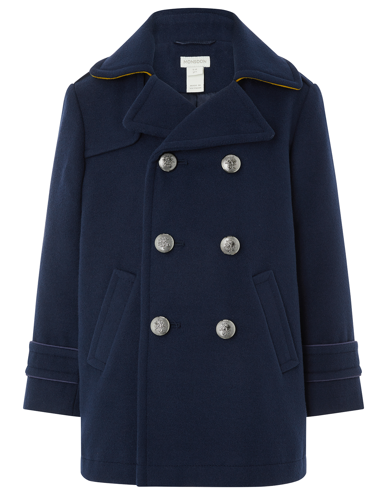 Monsoon Nate Navy Pea Coat