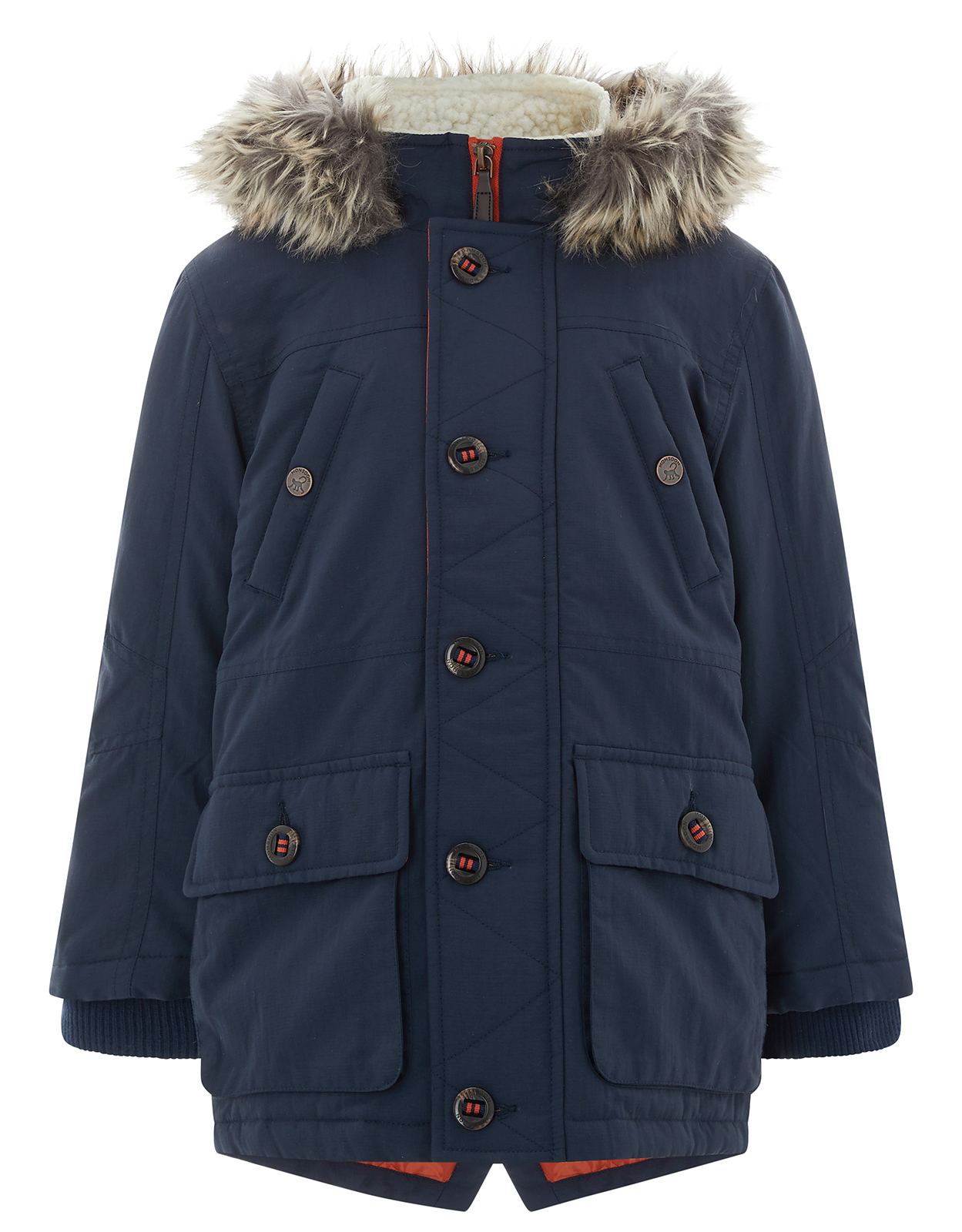Monsoon Preston Navy Parka Coat