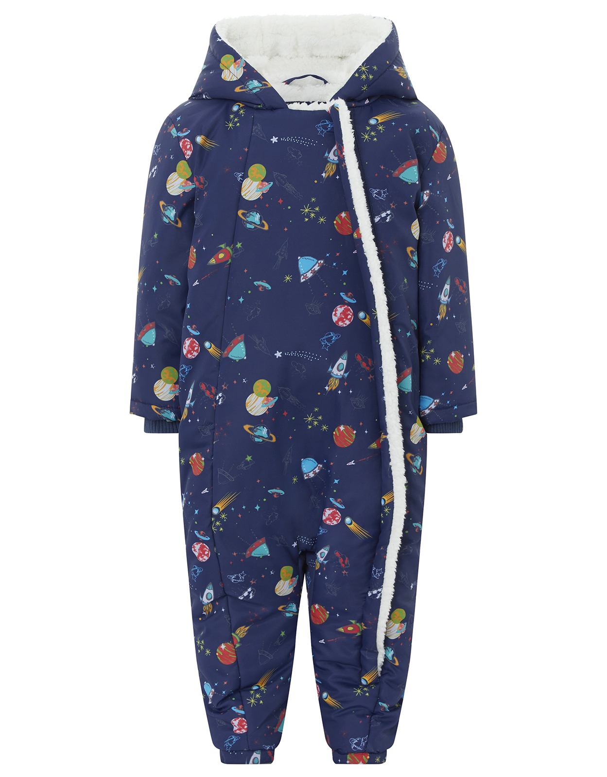 Monsoon Space Print Snowsuit