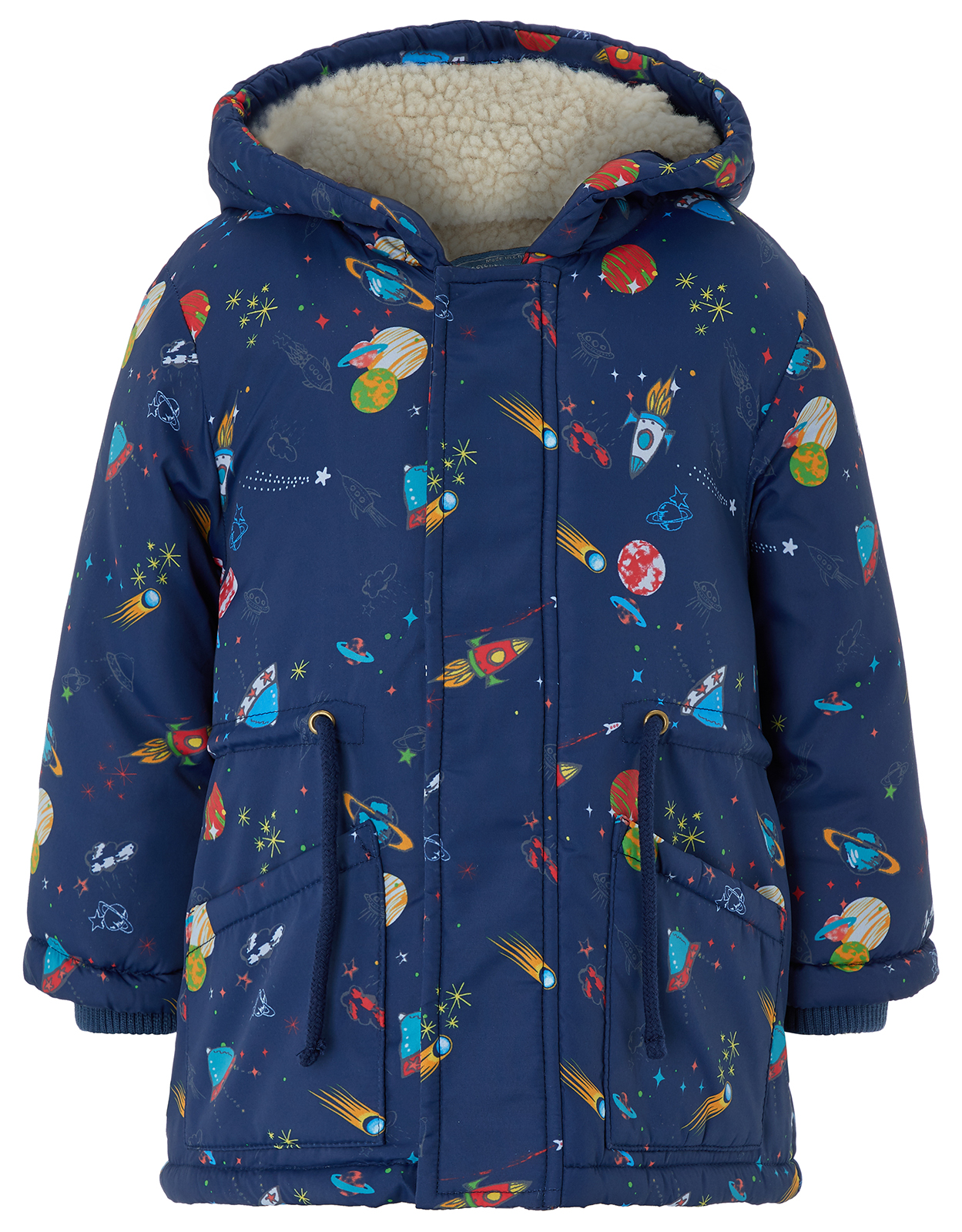 Monsoon Space Printed Padded Coat