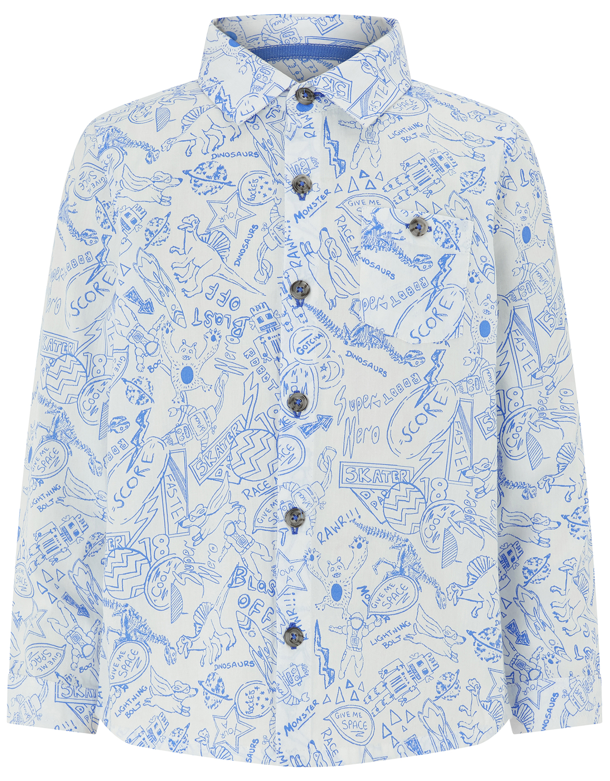 Monsoon Daniel Doodle Long Sleeve Shirt