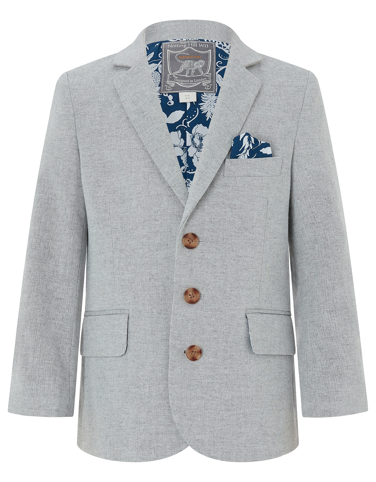 Monsoon Otis Linen Blend Suit Jacket