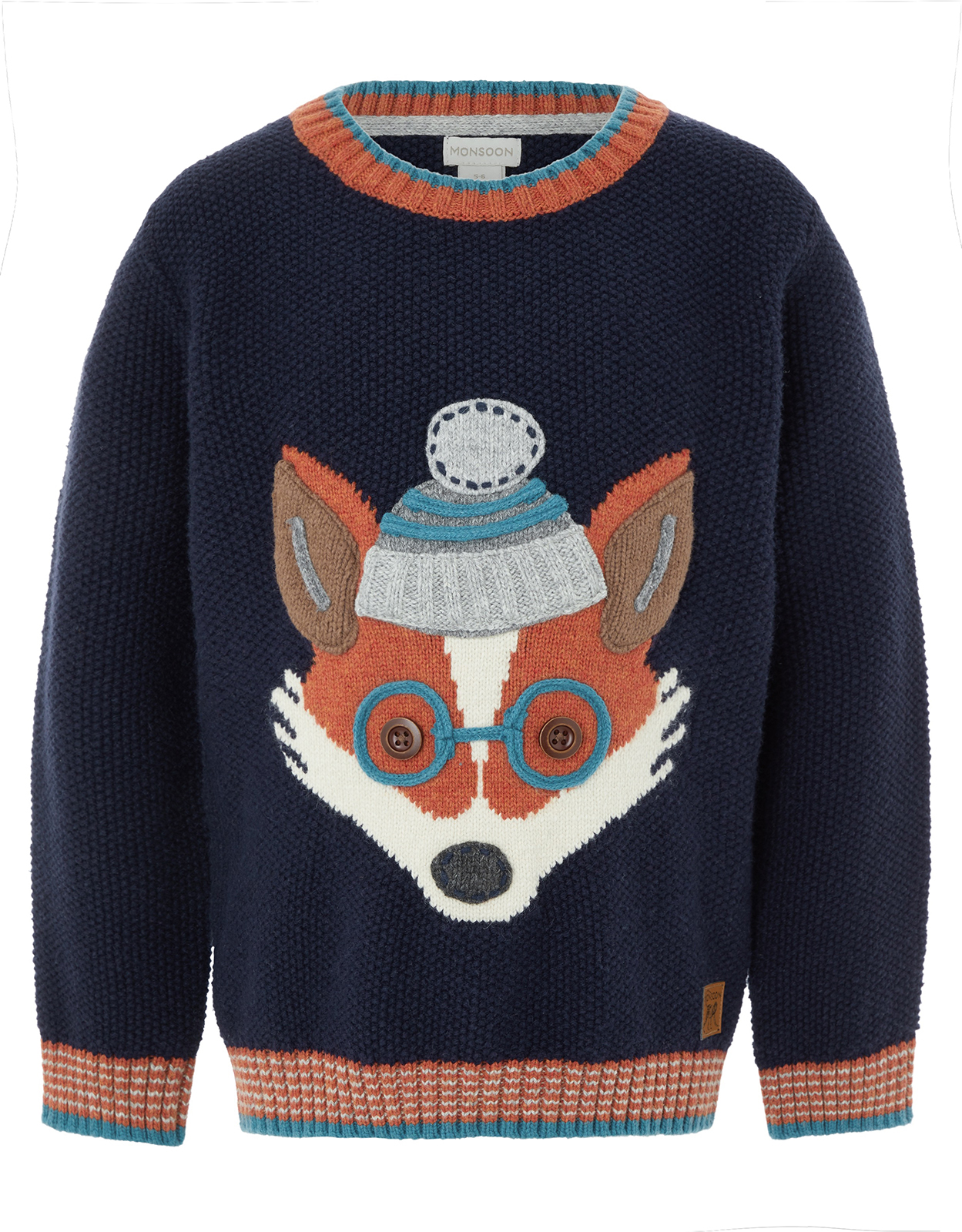 Monsoon Frank Fox Knitted Jumper