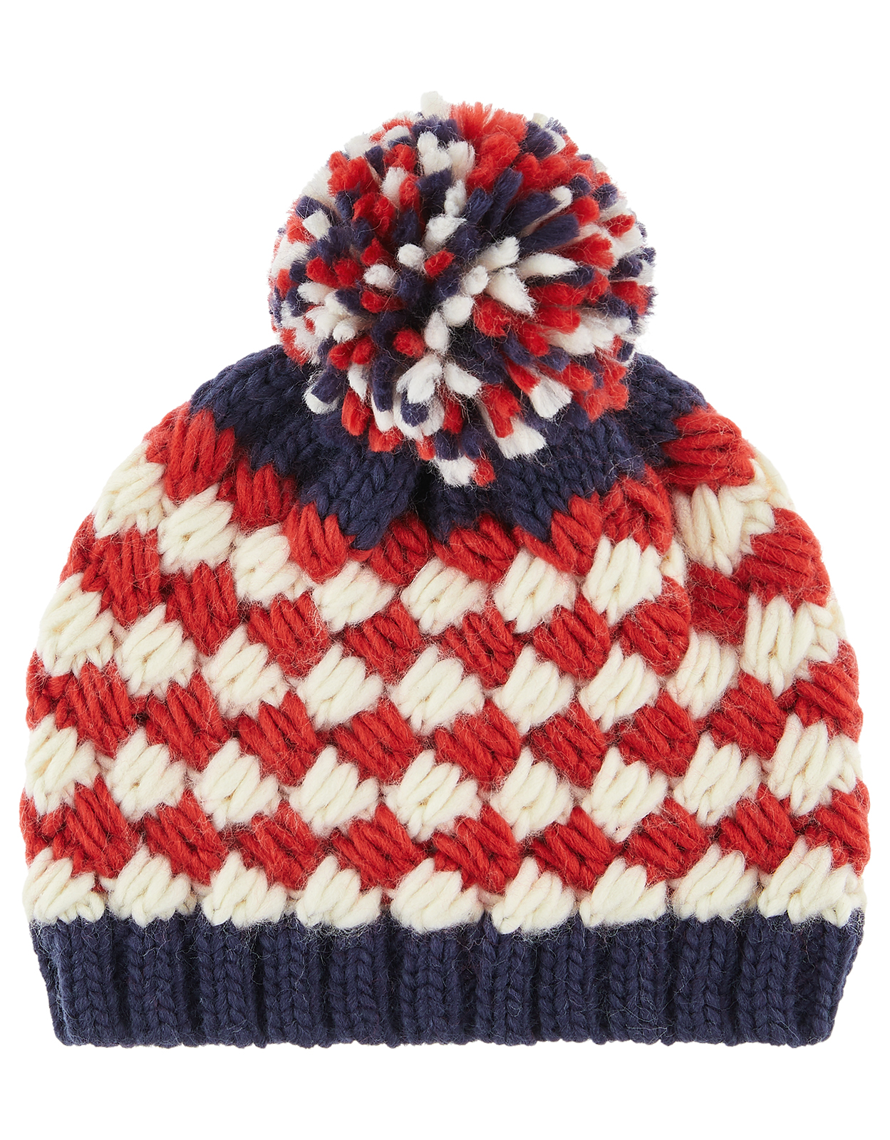 Monsoon Boy Jacob Red Stripe Beanie Hat
