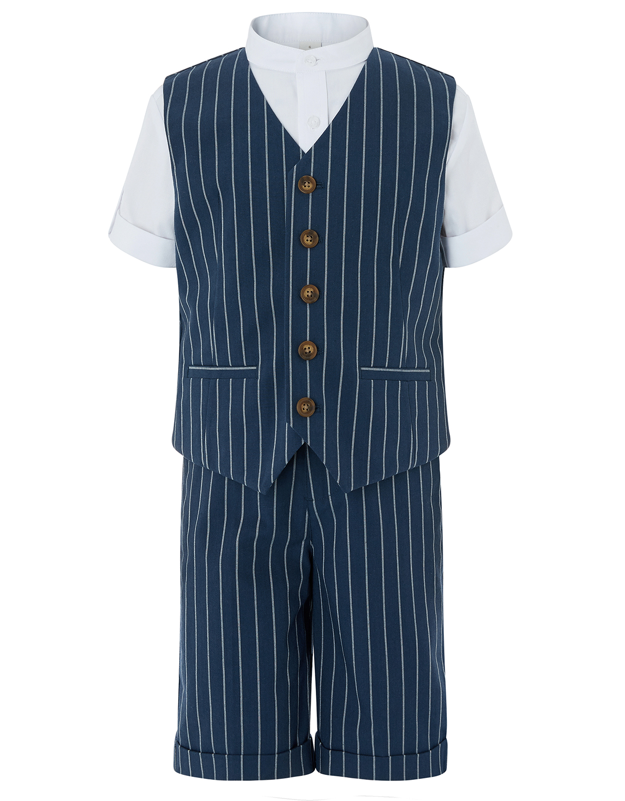 Monsoon Finn Stripe 3pc Shorts Suit Set