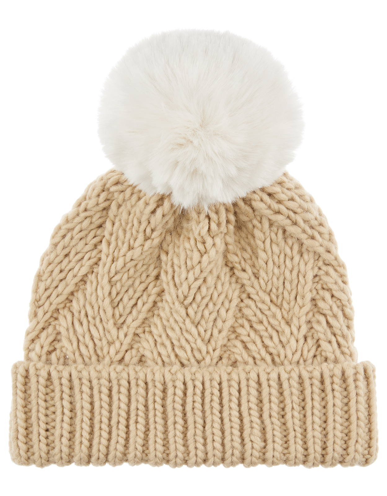 Monsoon Cara Camel Bobble Hat