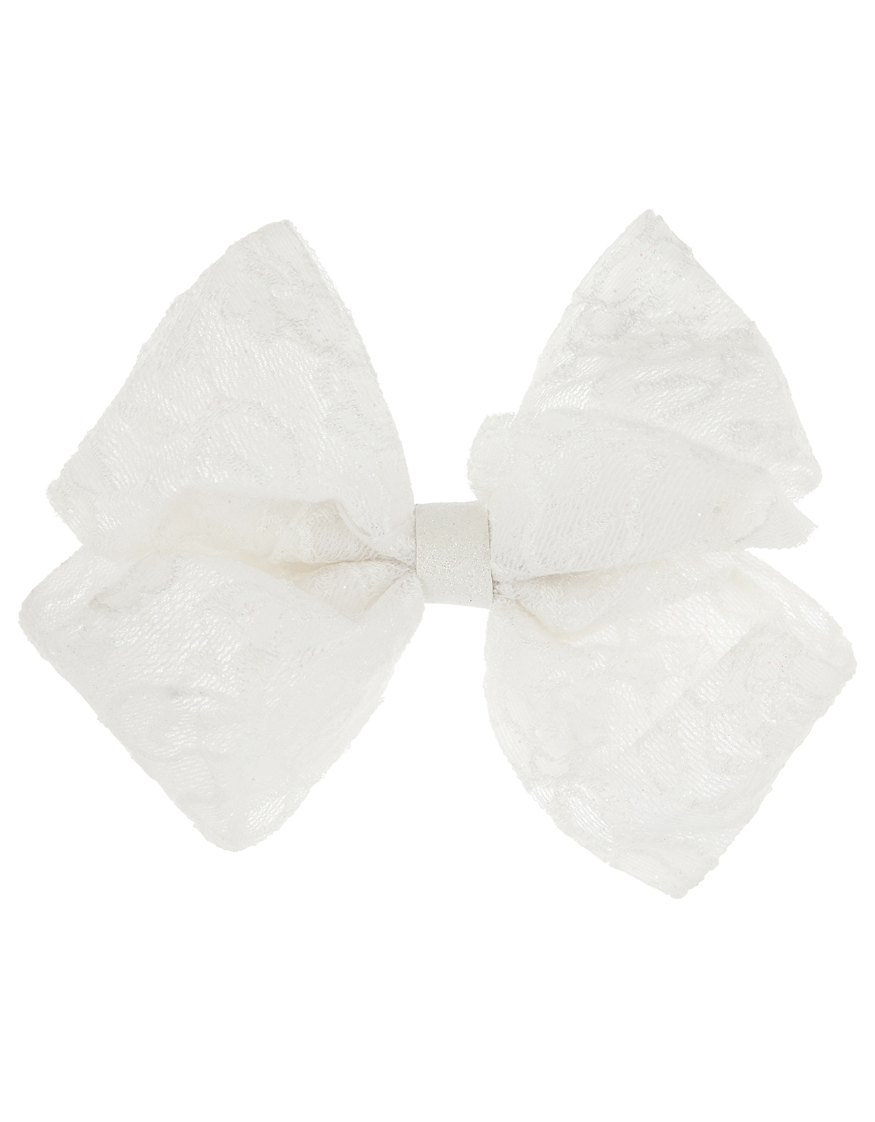 Monsoon Sparkle Lace Large Bow Hair Clip