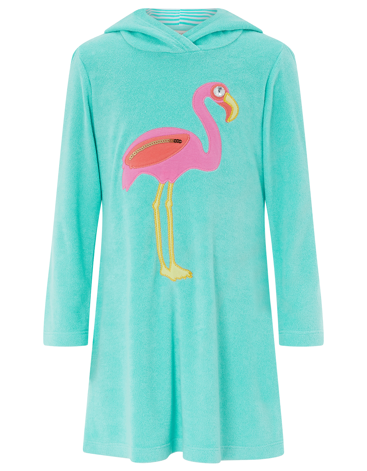 Monsoon Finessa Flamingo Towelling Dress