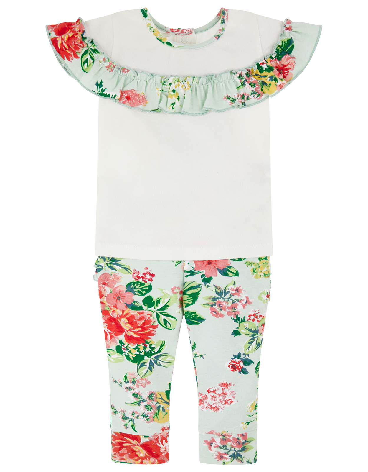Monsoon Newborn Baby Darcy Top & Leggings Set