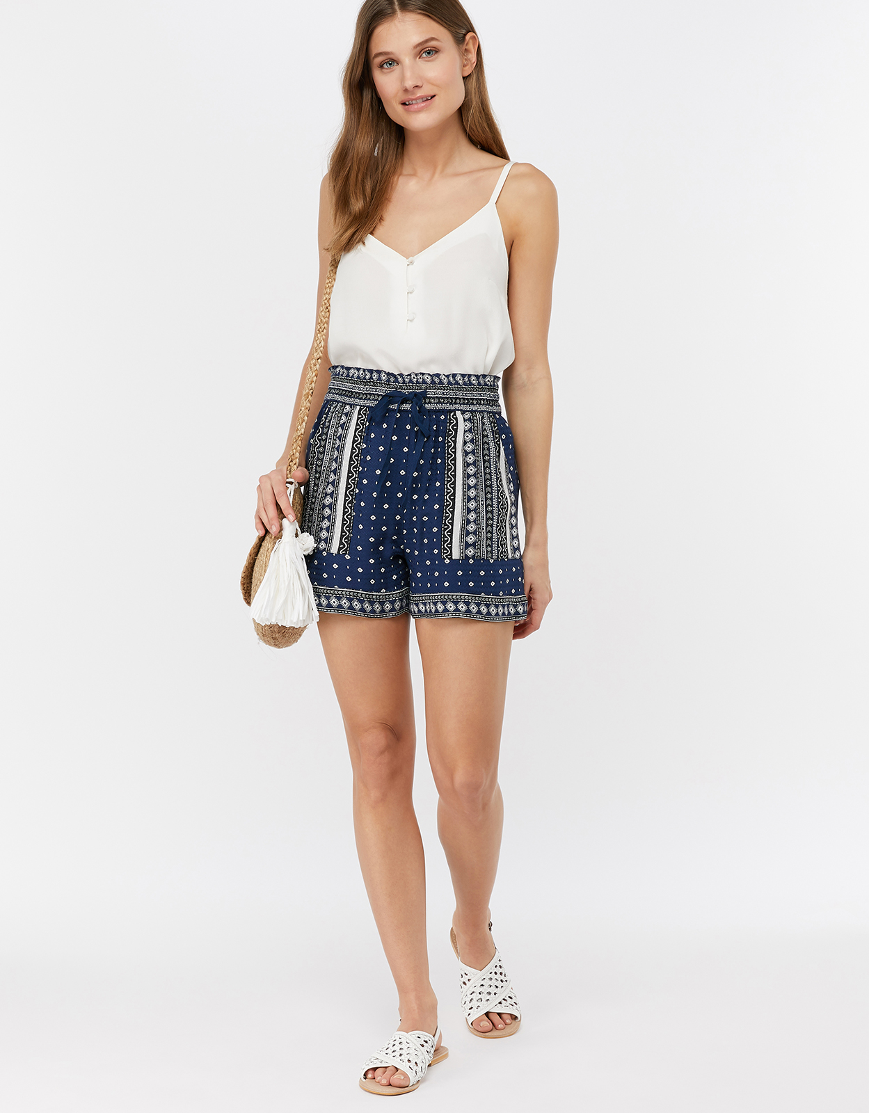Monsoon Tara Print Shorts