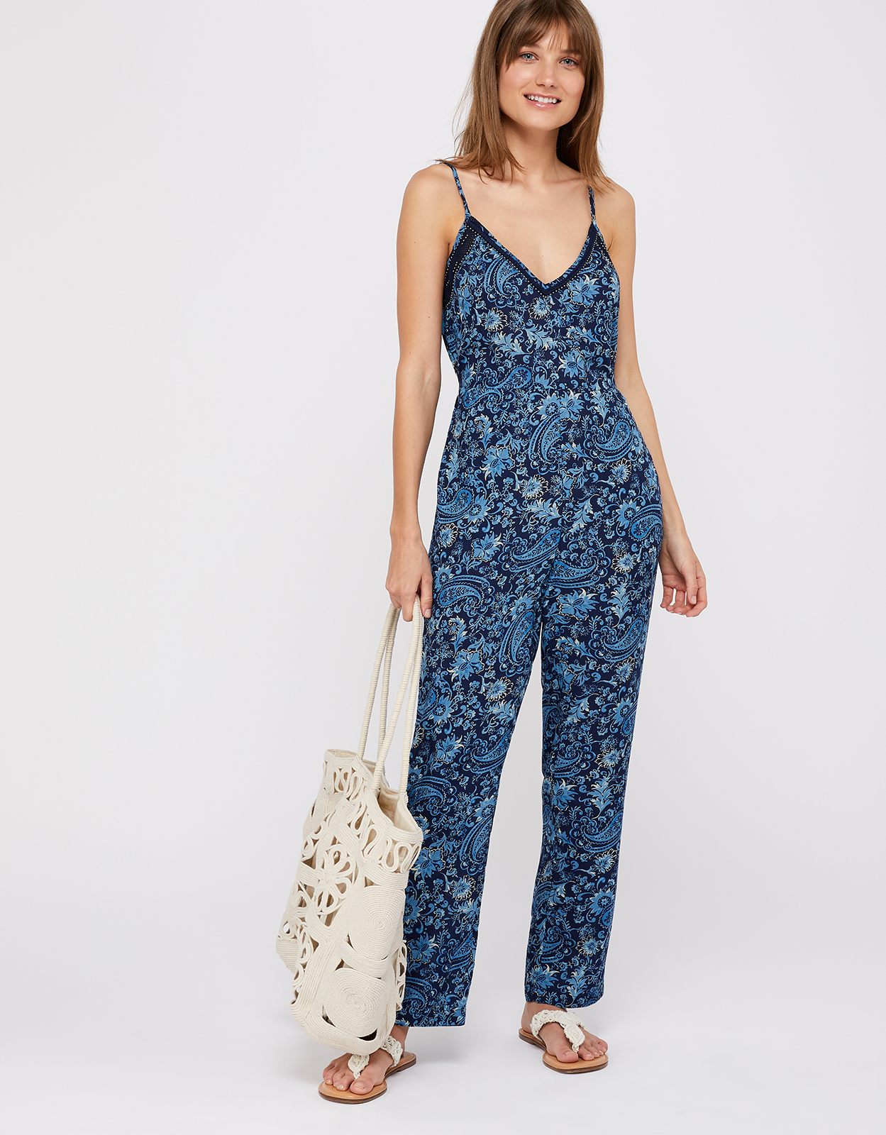 Monsoon Clara Printed Jumpsuit
