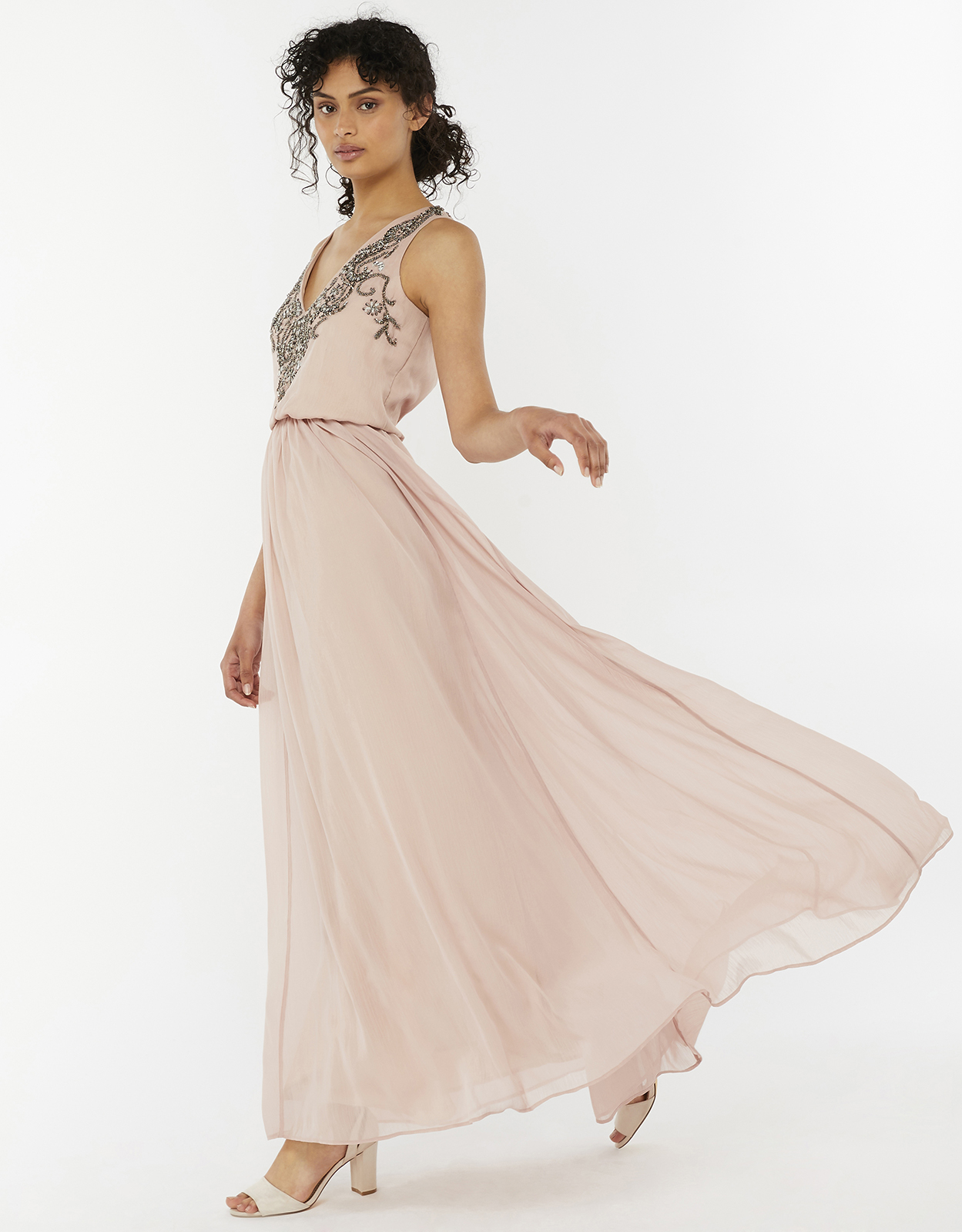 Monsoon Sandra Embellished Maxi Dress