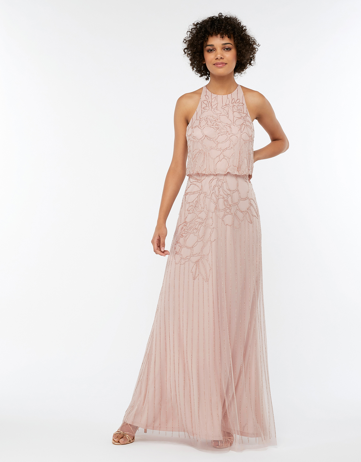 Monsoon Bianca Embellished Maxi Bridesmaid Dress