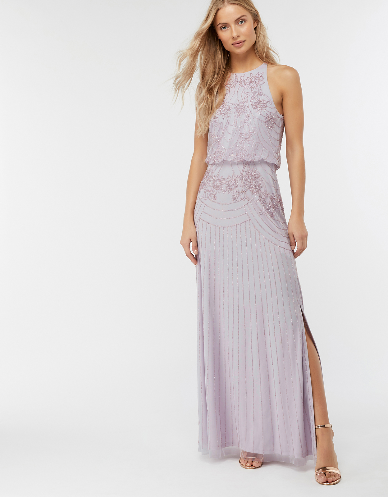 Monsoon Blake Embellished Maxi Bridesmaid Dress
