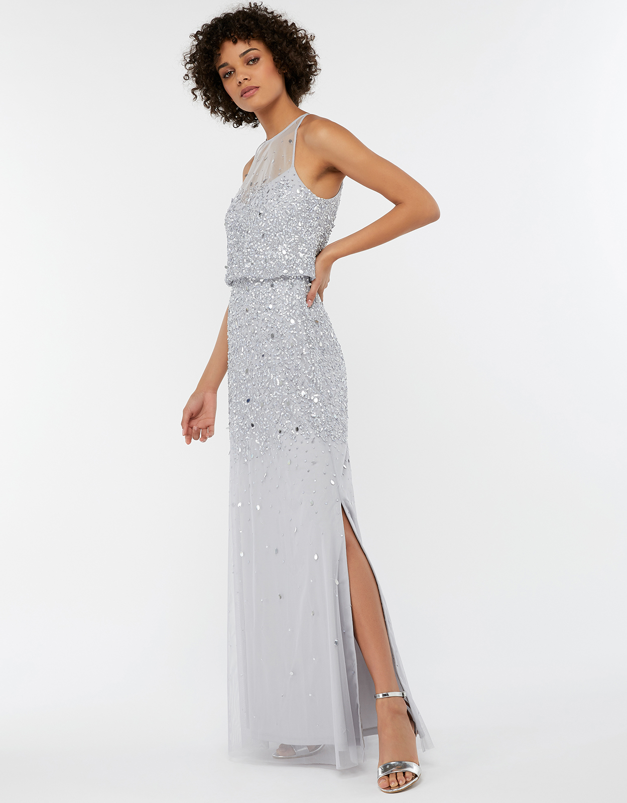 Monsoon Toni Embellished Maxi Bridesmaid Dress