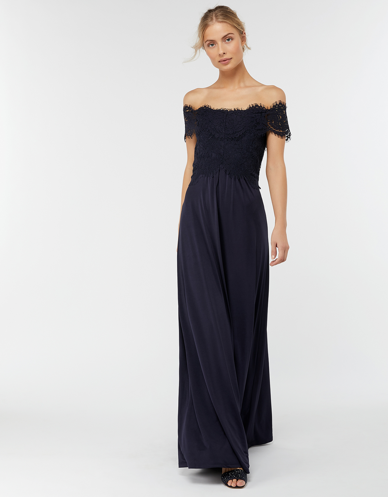 Monsoon Valerie Bardot Maxi Bridesmaid Dress