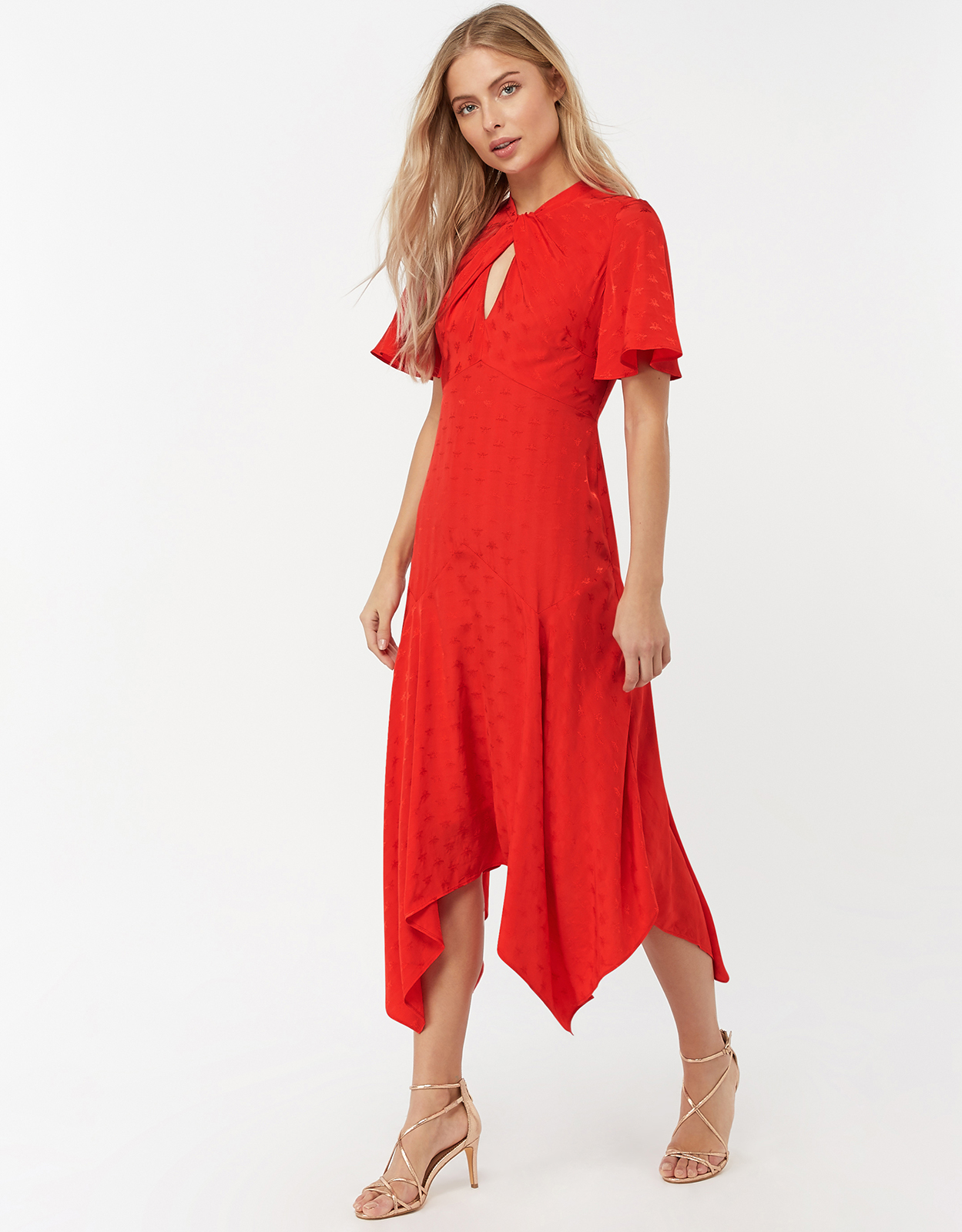 Monsoon Beatrice Bee Jacquard Hanky Hem Dress