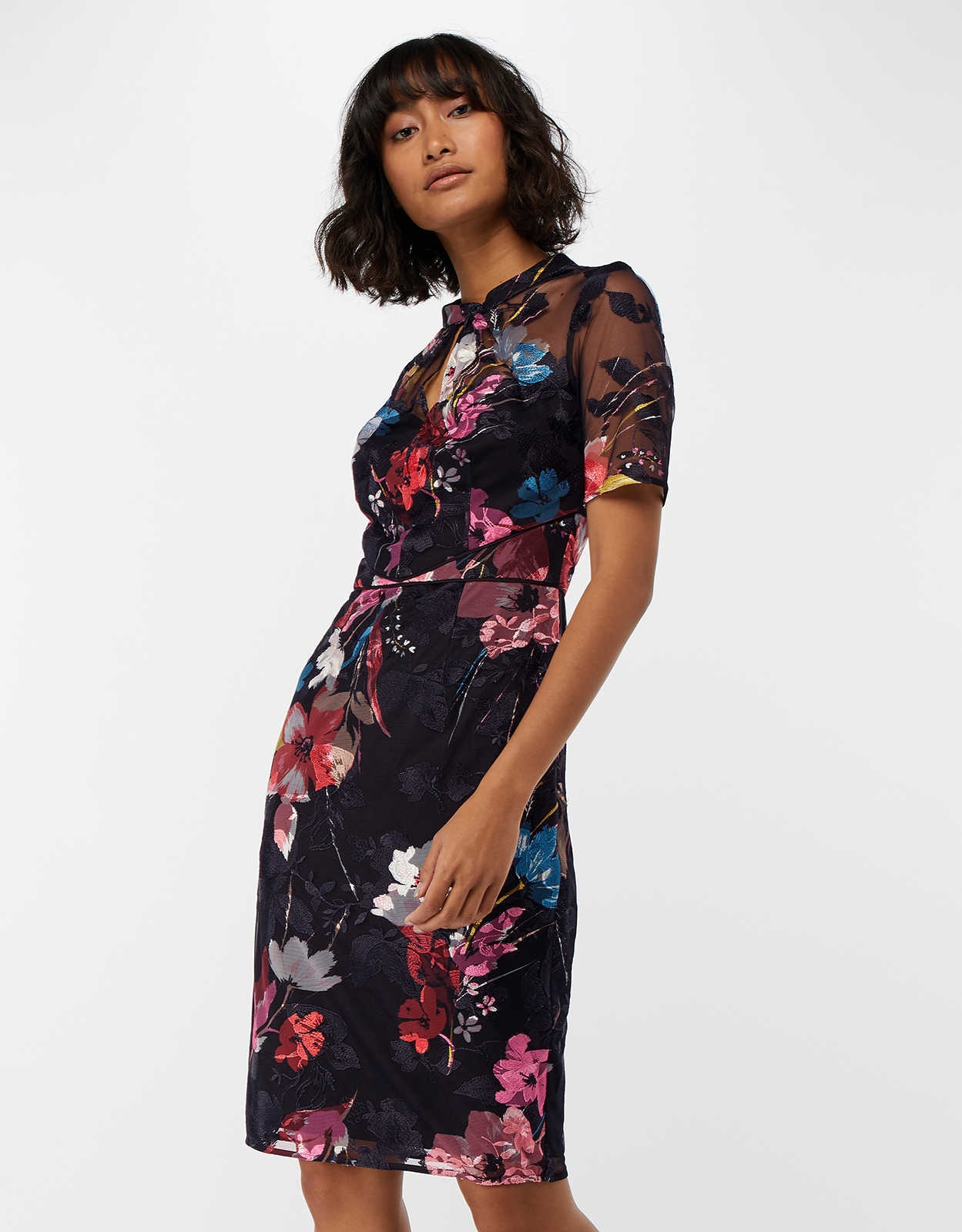 Monsoon Eloise Print Mesh Dress