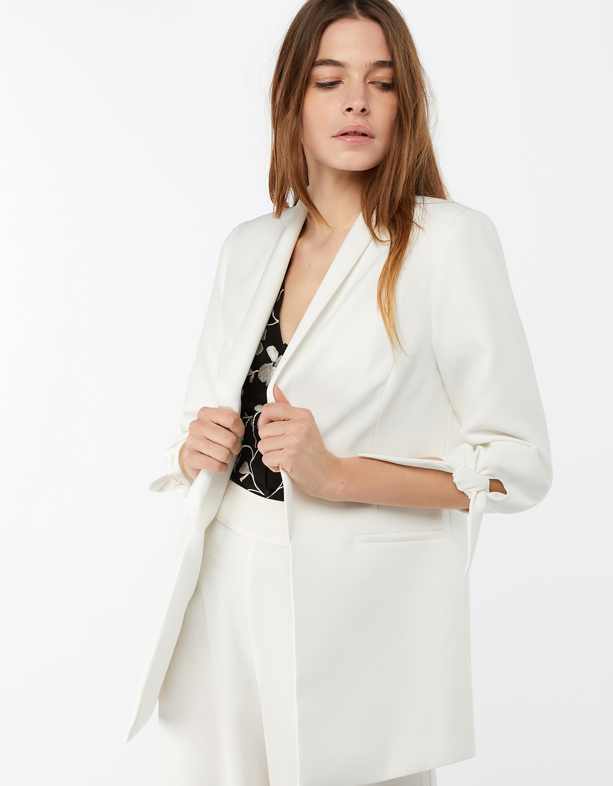 Monsoon Hayley Tie Sleeve Jacket