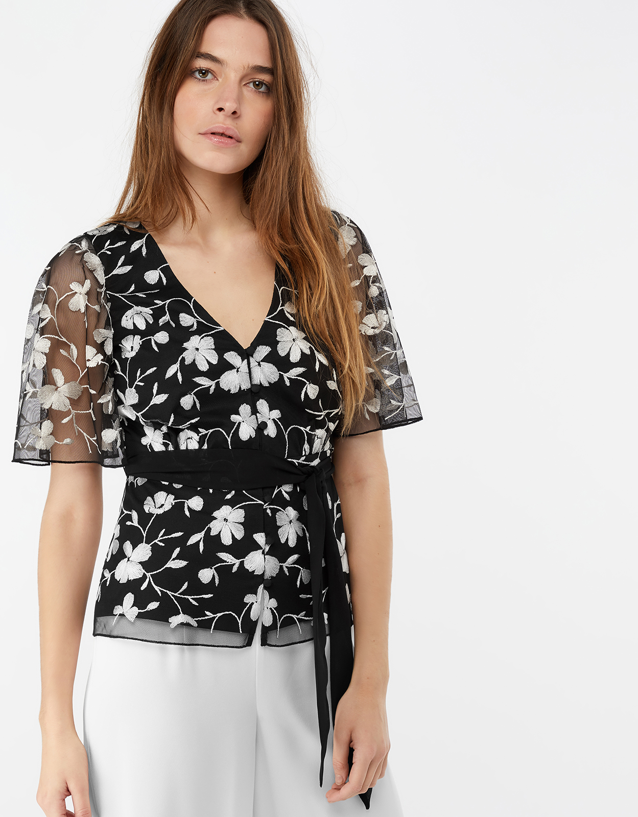 Monsoon Victoria Embroidered Top
