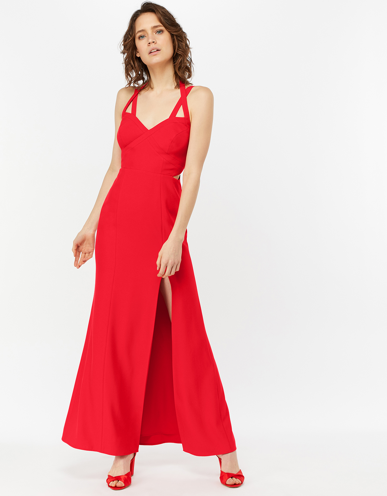 Monsoon Kazimir Cut Out Maxi Dress