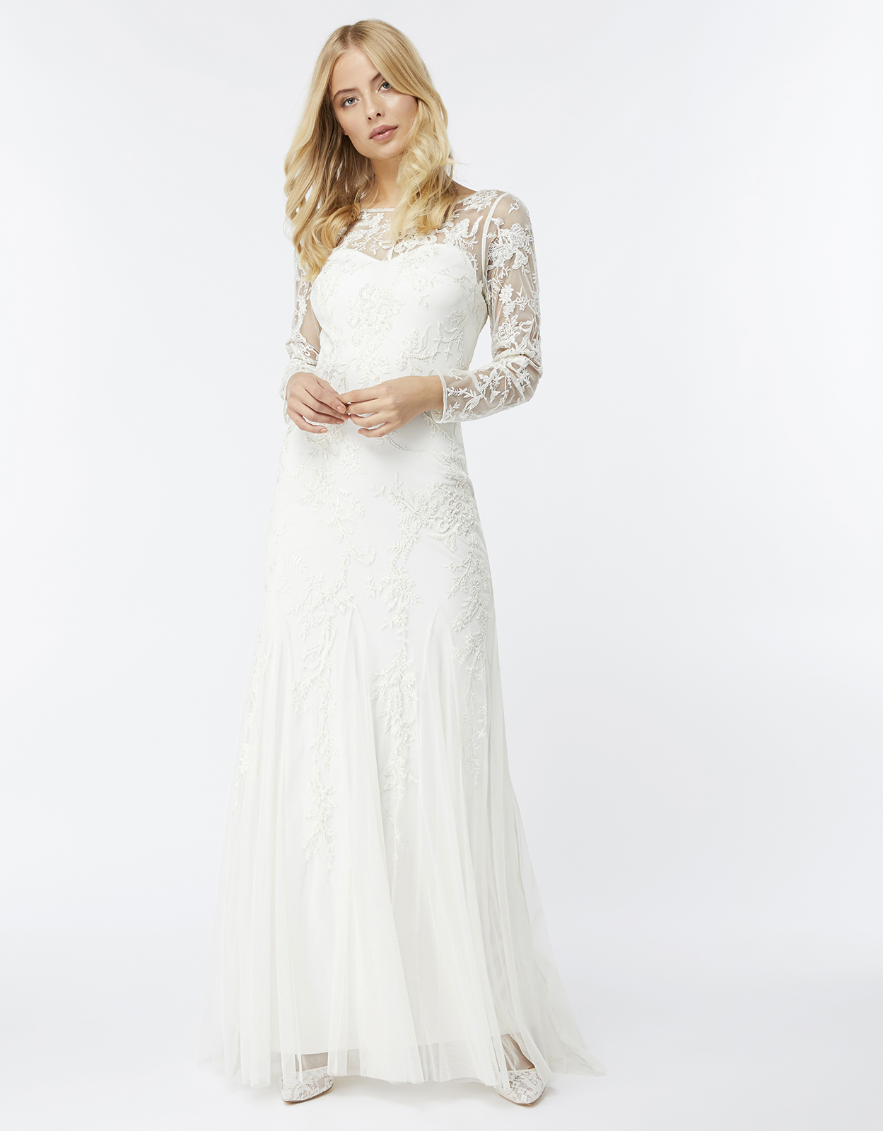 Monsoon Hermione Embellished Maxi Bridal Dress