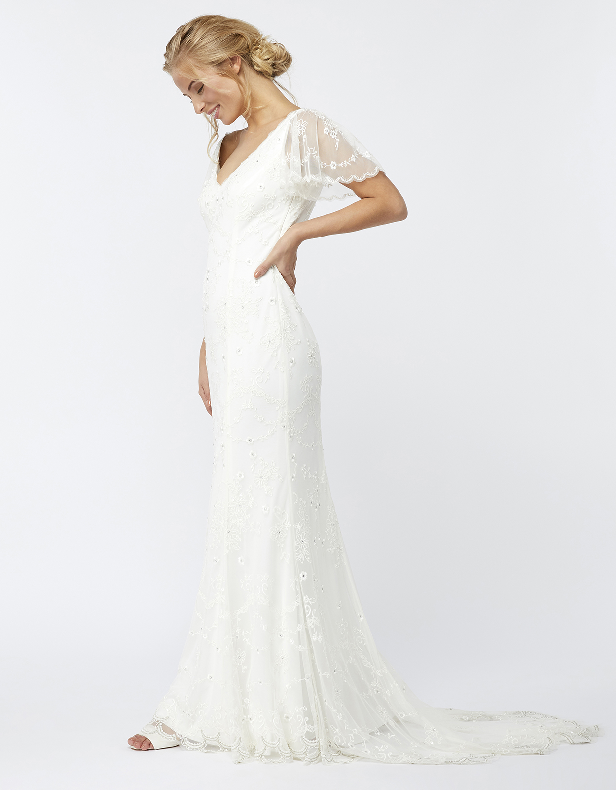 Monsoon Florence Embellished Bridal Maxi Dress