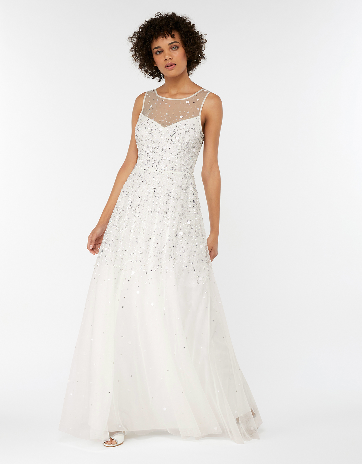 Monsoon Victoria Embellished Maxi Wedding Dress