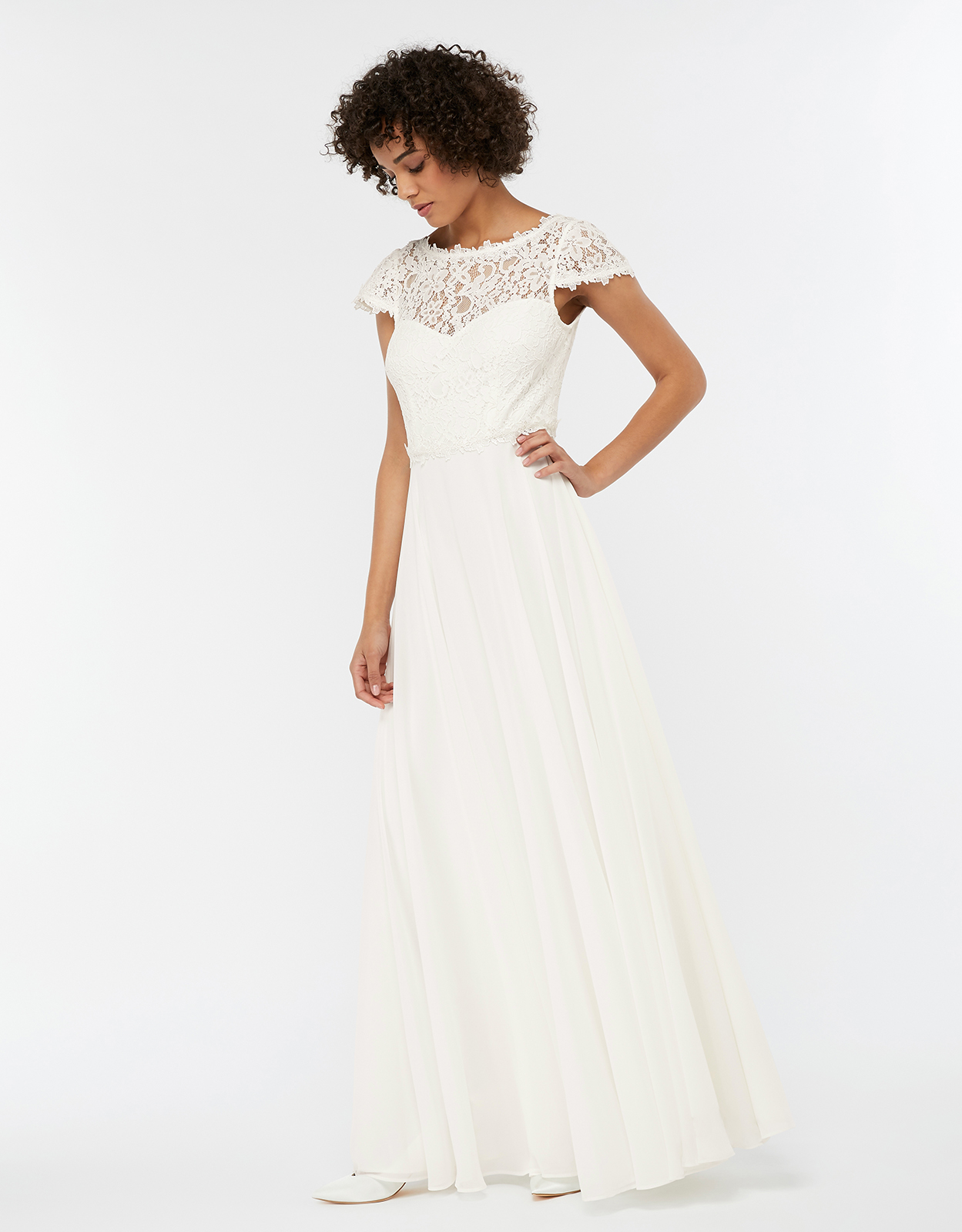 Monsoon Catherine Lace Maxi Wedding Dress