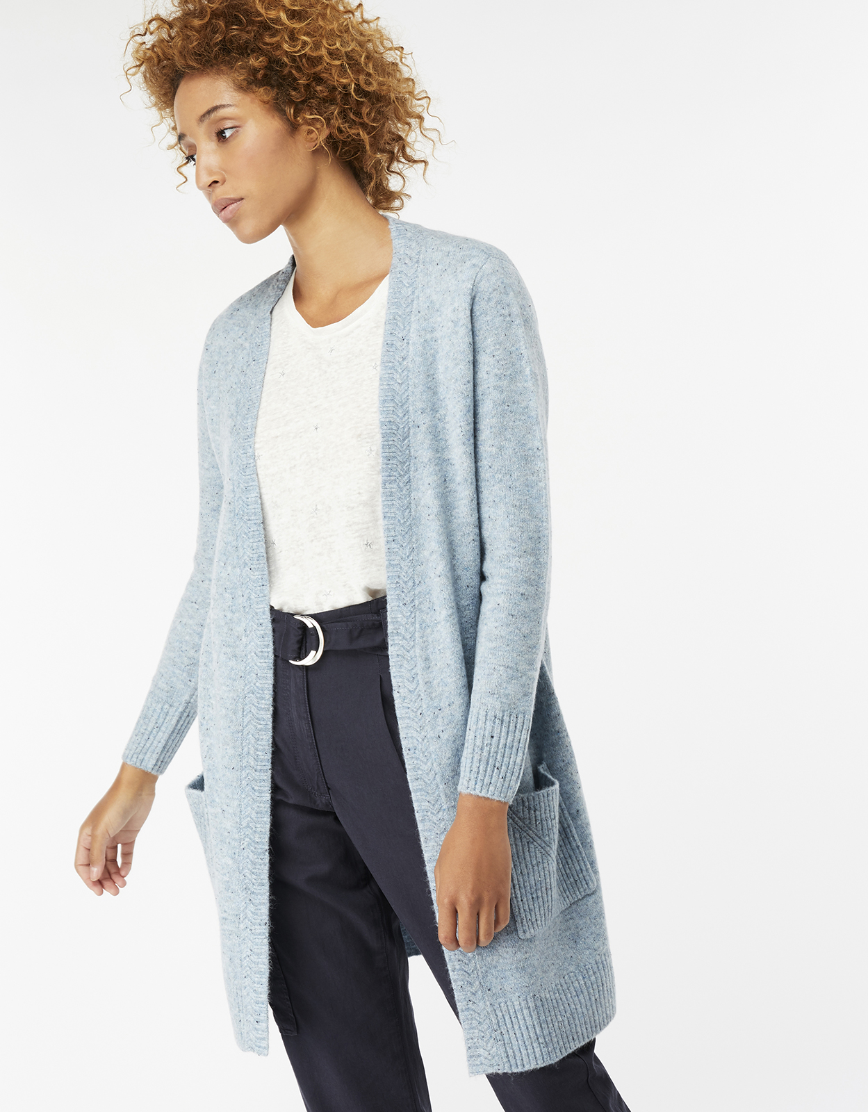 Monsoon Perrie Pretty Nep Edge To Edge Cardigan