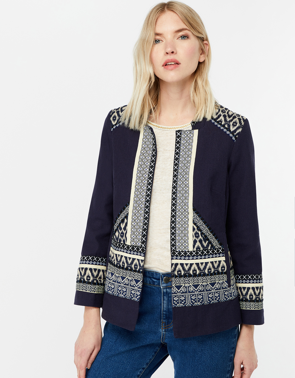 Monsoon Eleanor Embroidered Jacket