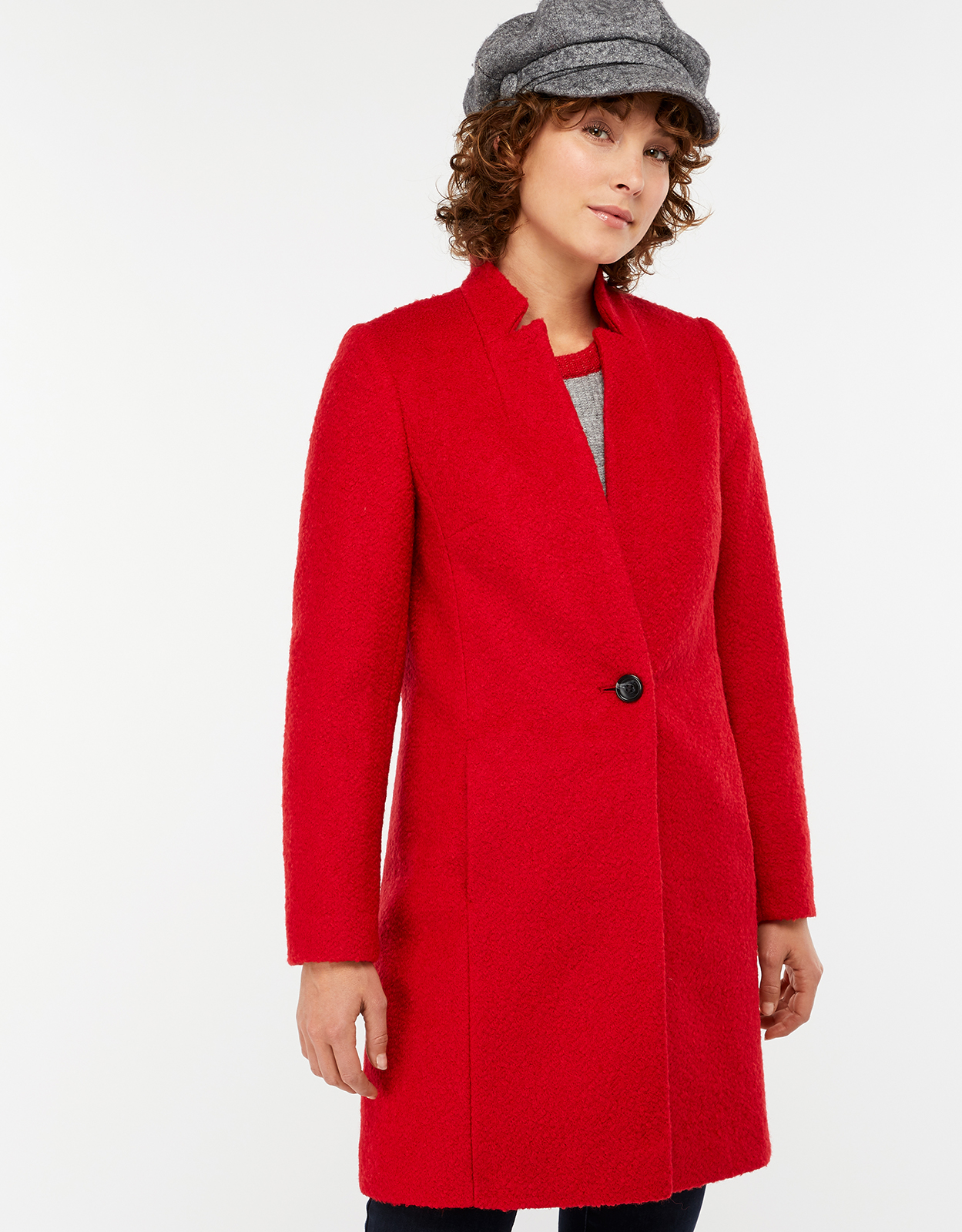 Monsoon Jenny Boucle Coat