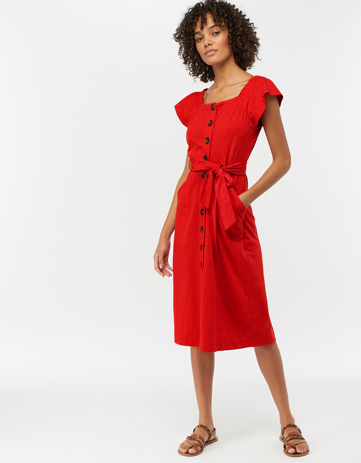 Monsoon Jessica Button Through Jersey Dress