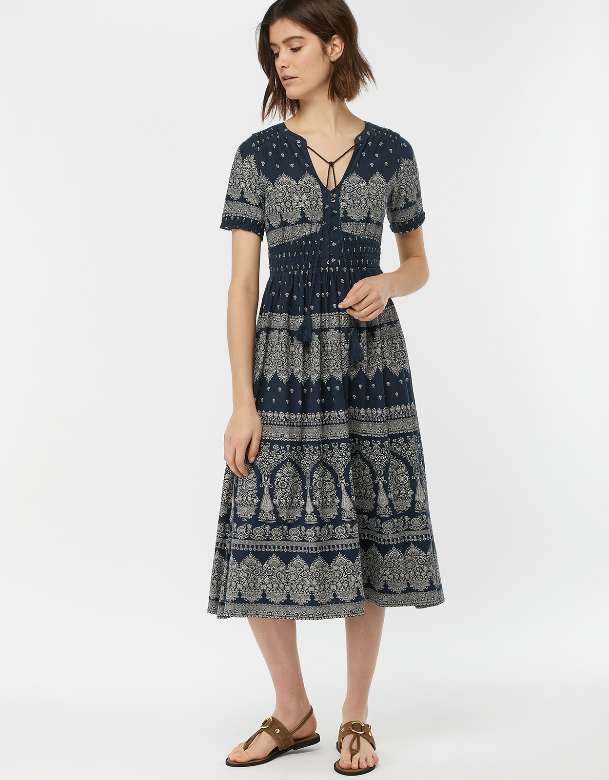 Monsoon Hatty Heritage Print Dress