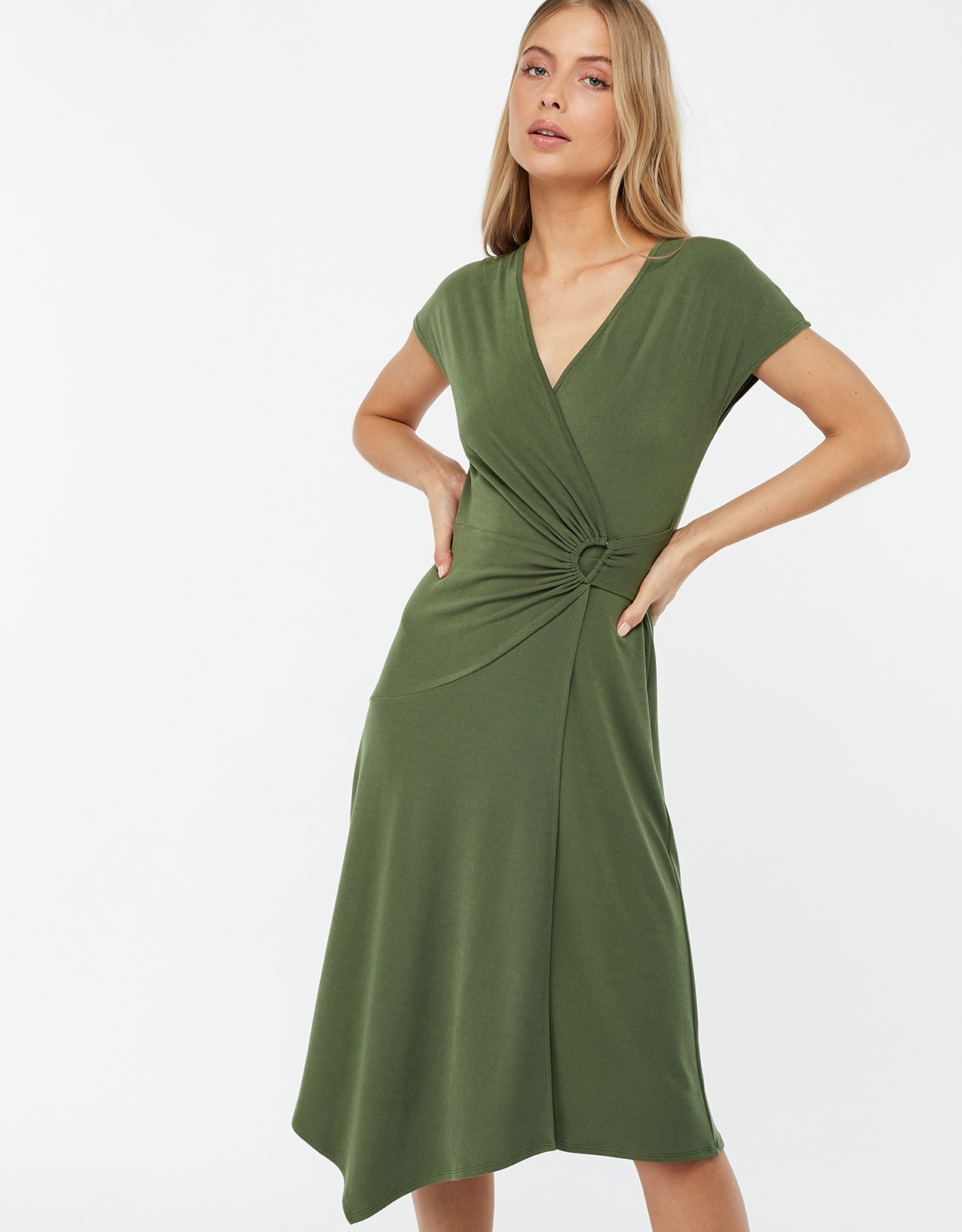 Monsoon Katy D Ring Jersey Midi Dress