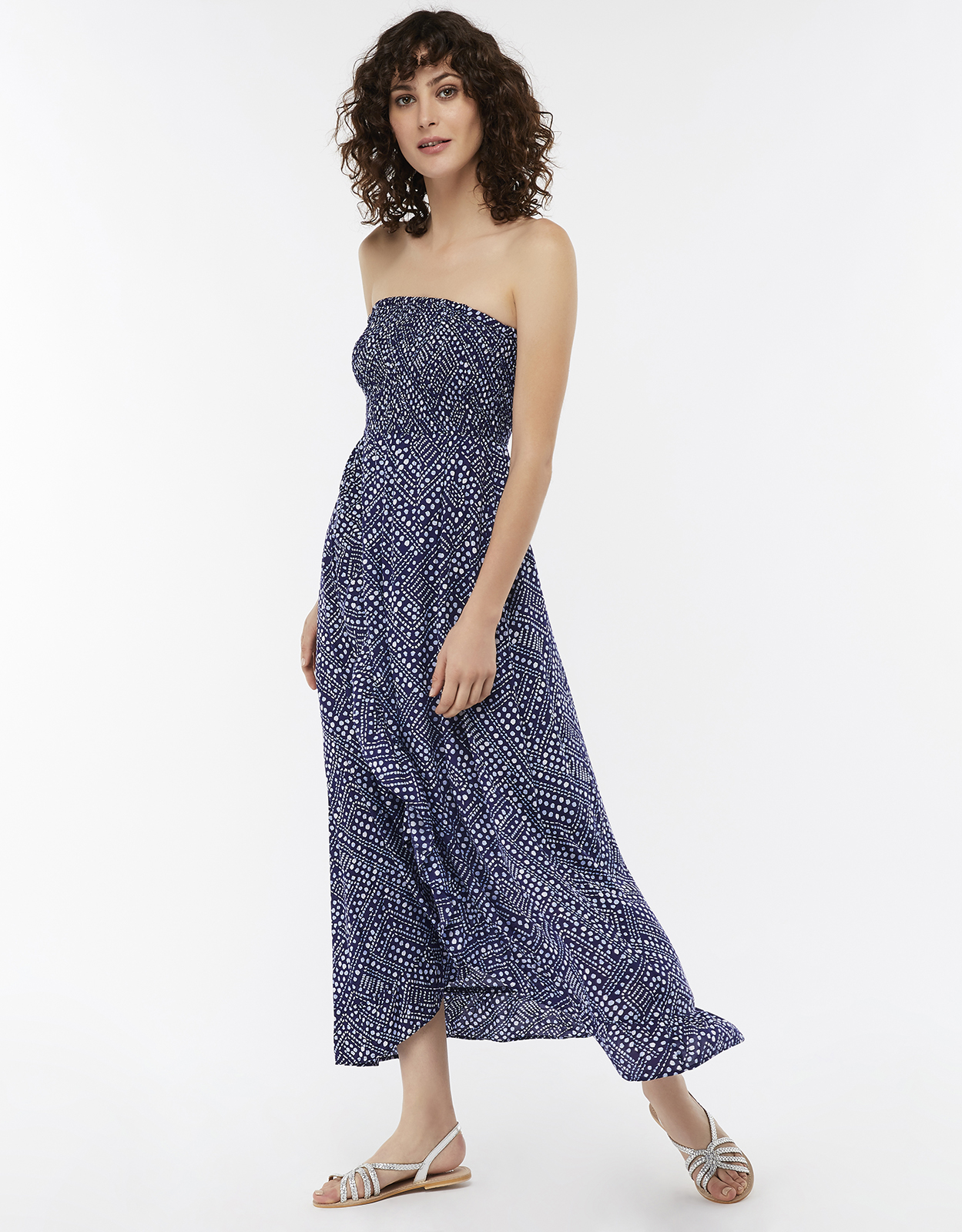 Monsoon Candice Frill Bandeau Dress
