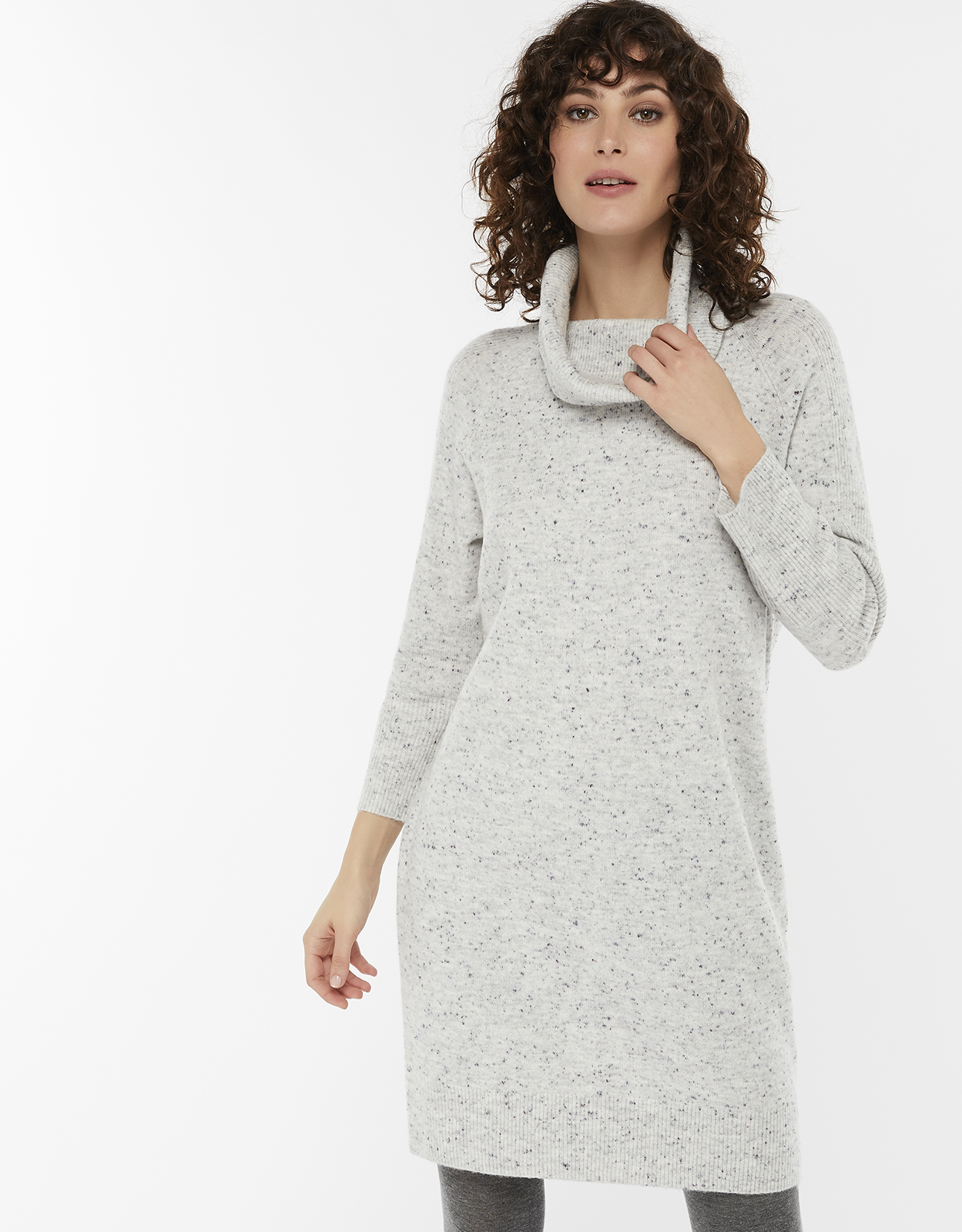 Monsoon Naomi Nep Roll Neck Jumper Dress