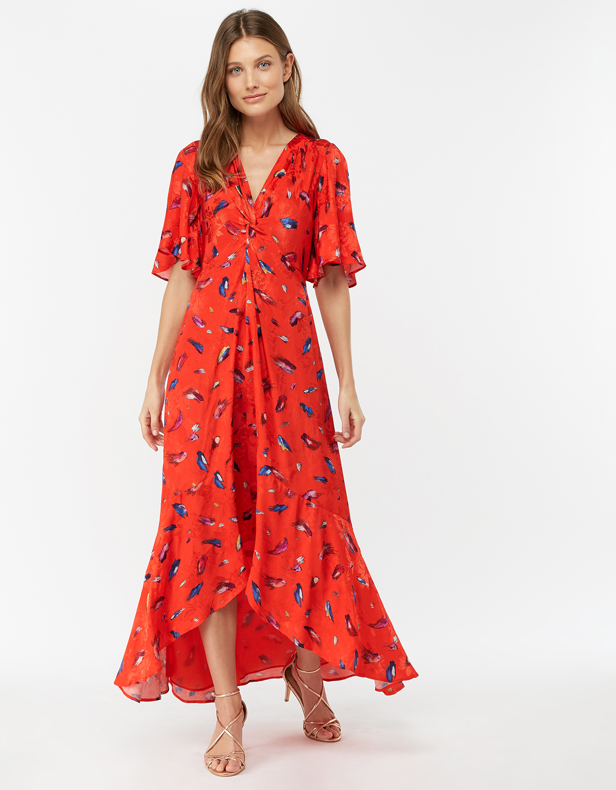 Monsoon Natalie Print Midi Dress