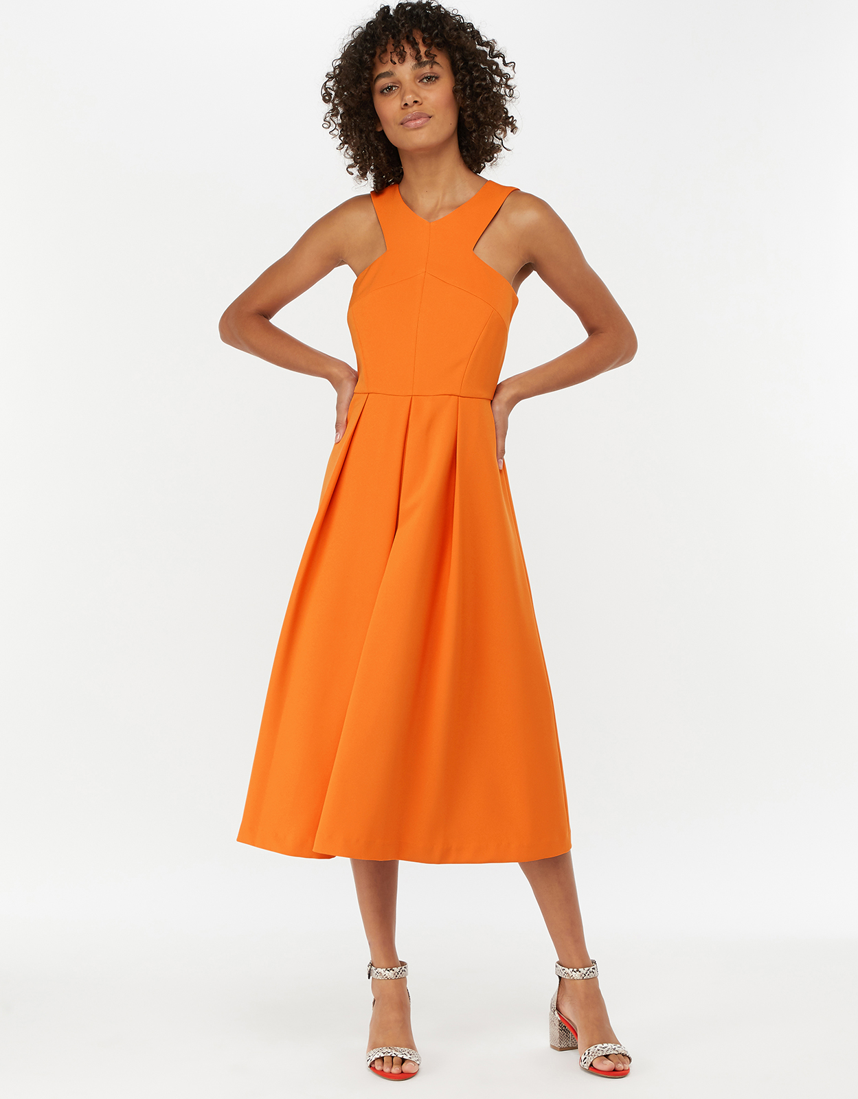 Monsoon Patricia Plain Midi Dress