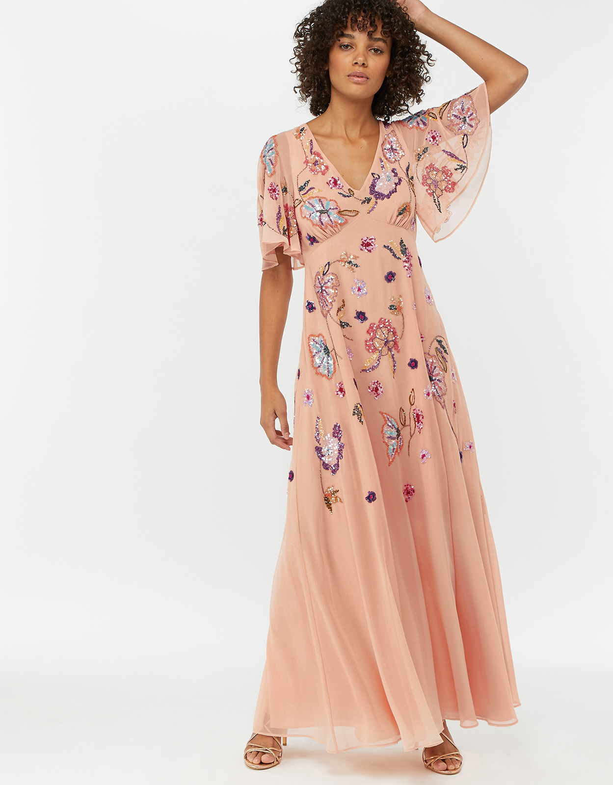 Monsoon Latoya Embellished Maxi Dress
