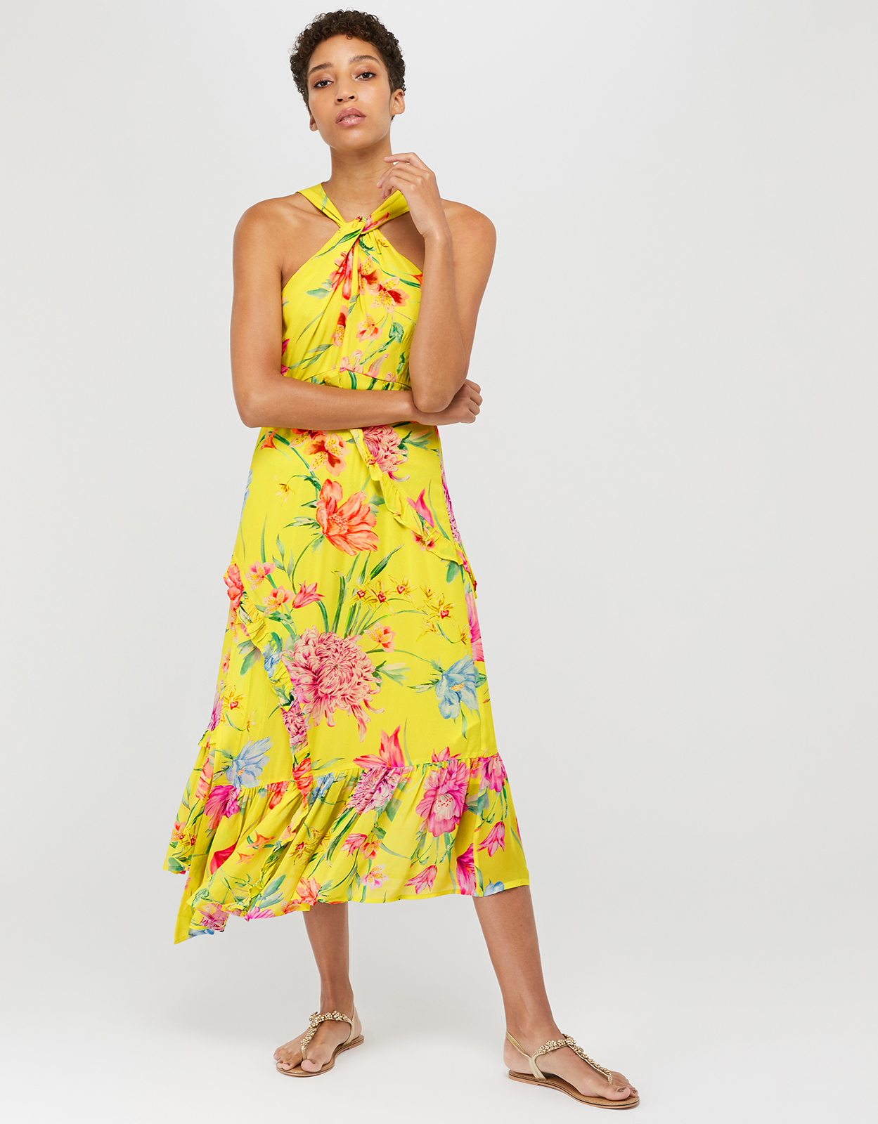 Monsoon Ollie Print Midi Dress