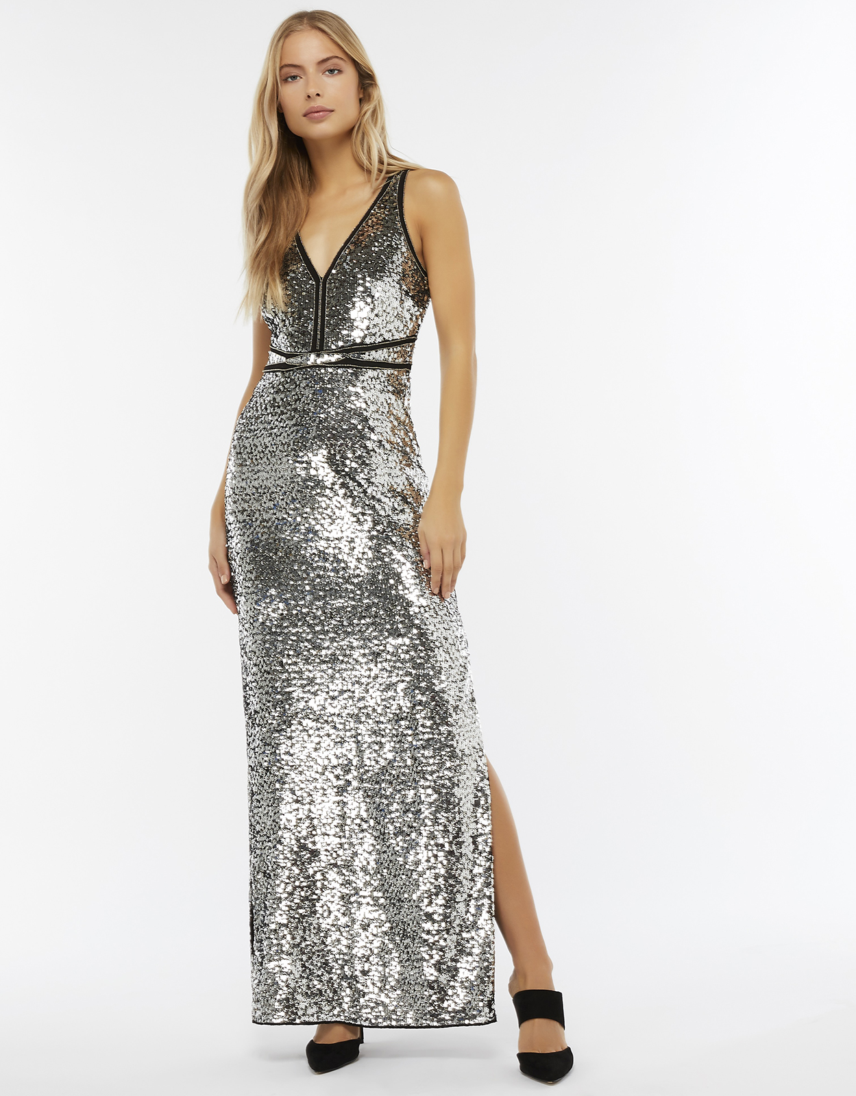 Monsoon Beth Sequin Maxi Dress