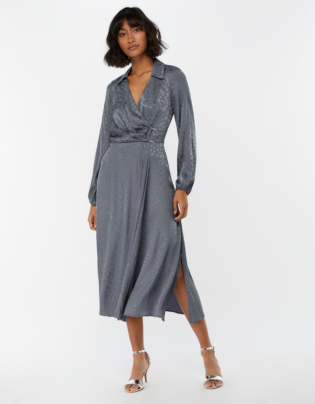 Monsoon Amelia Animal Jacquard Midi Dress