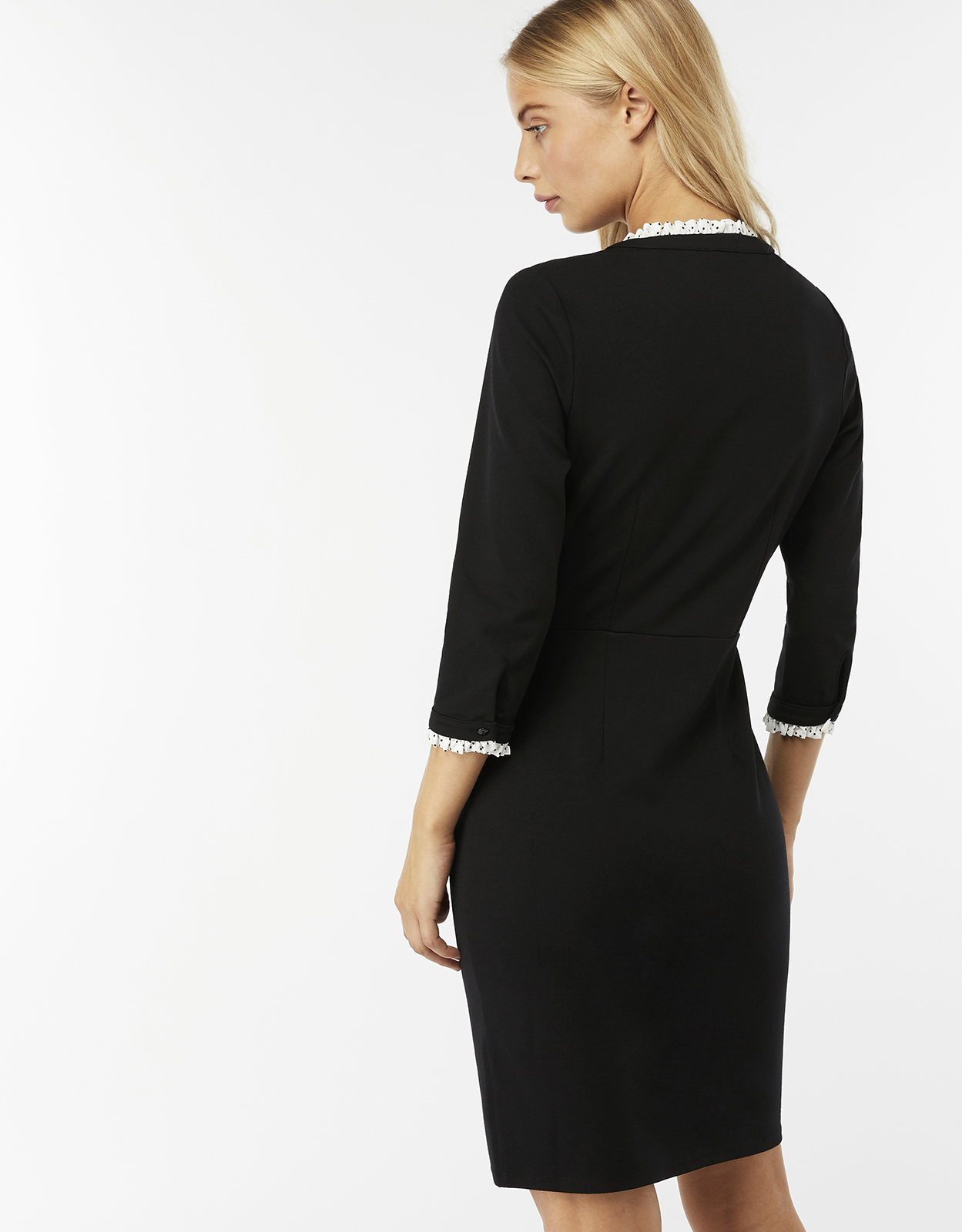 Monsoon Pippa Ponte Spot Dress